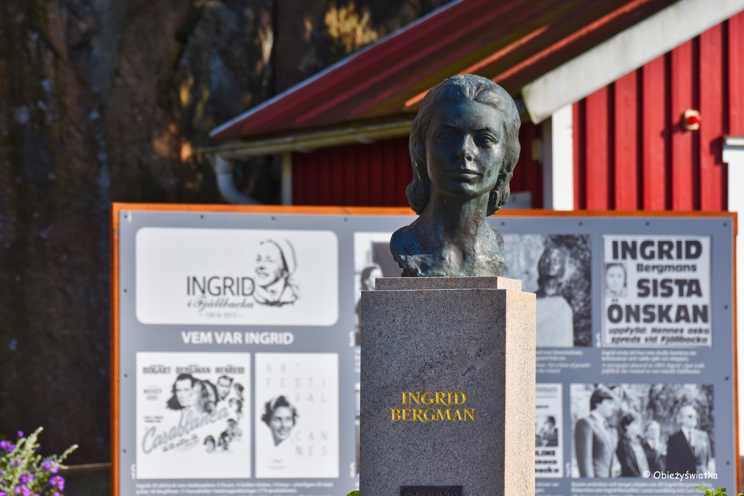 Fjällbacka - pomnik Ingrid Bergman