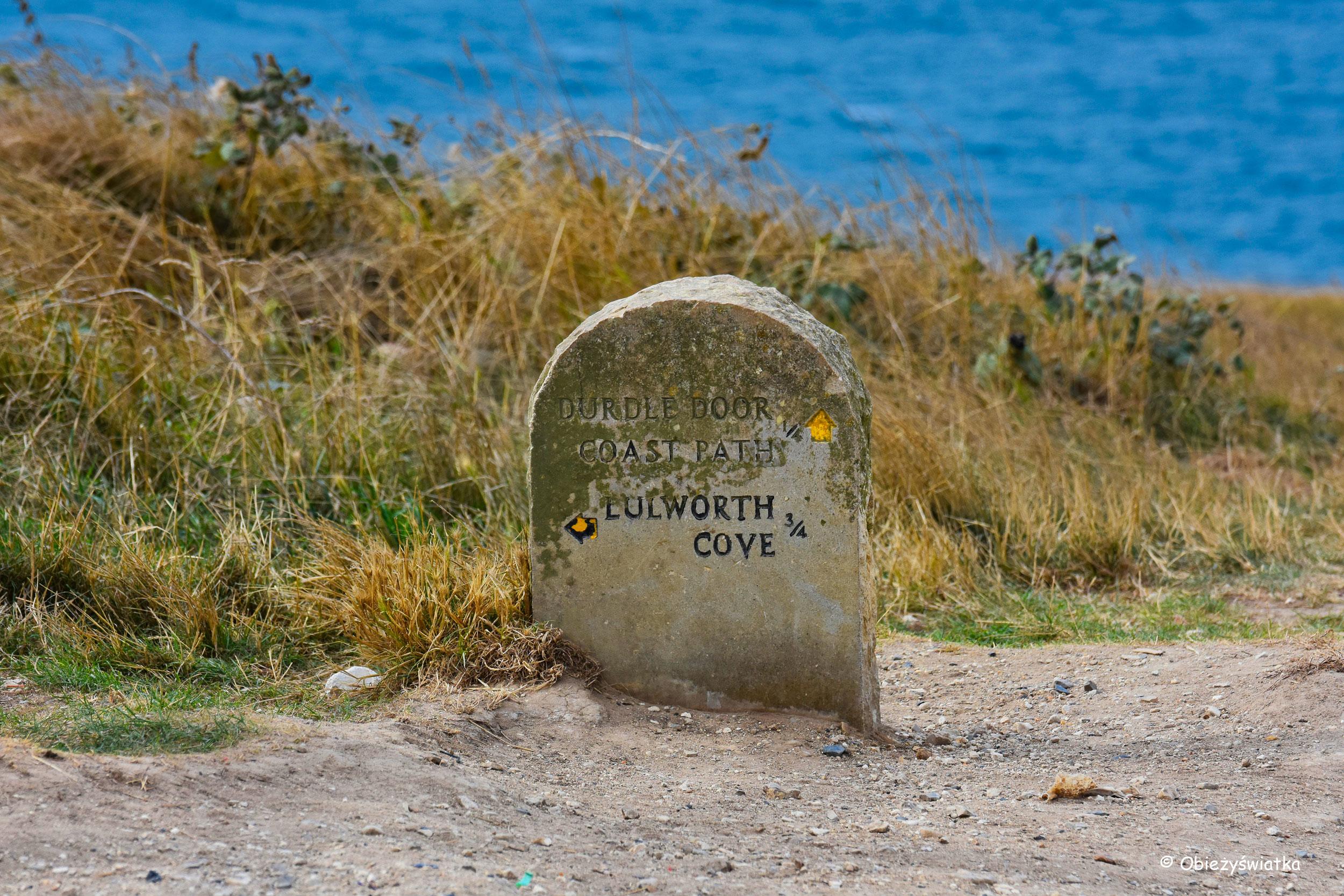 Oznakowanie szlaku South West Coast Path, UK