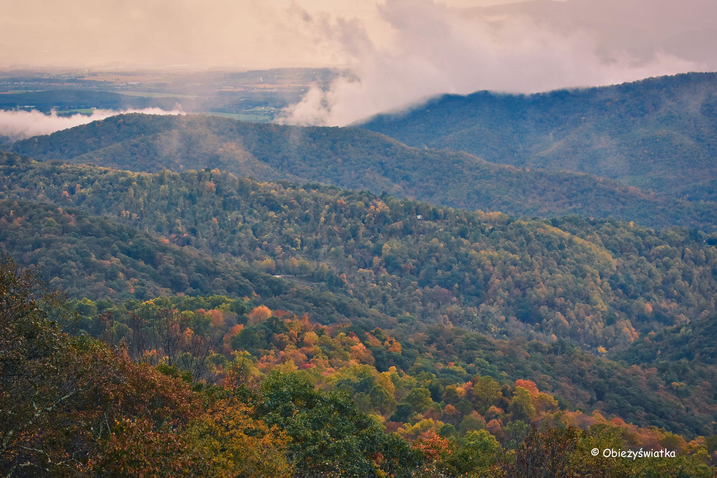 Appalachy i Park Narodowy Shenandoah, USA