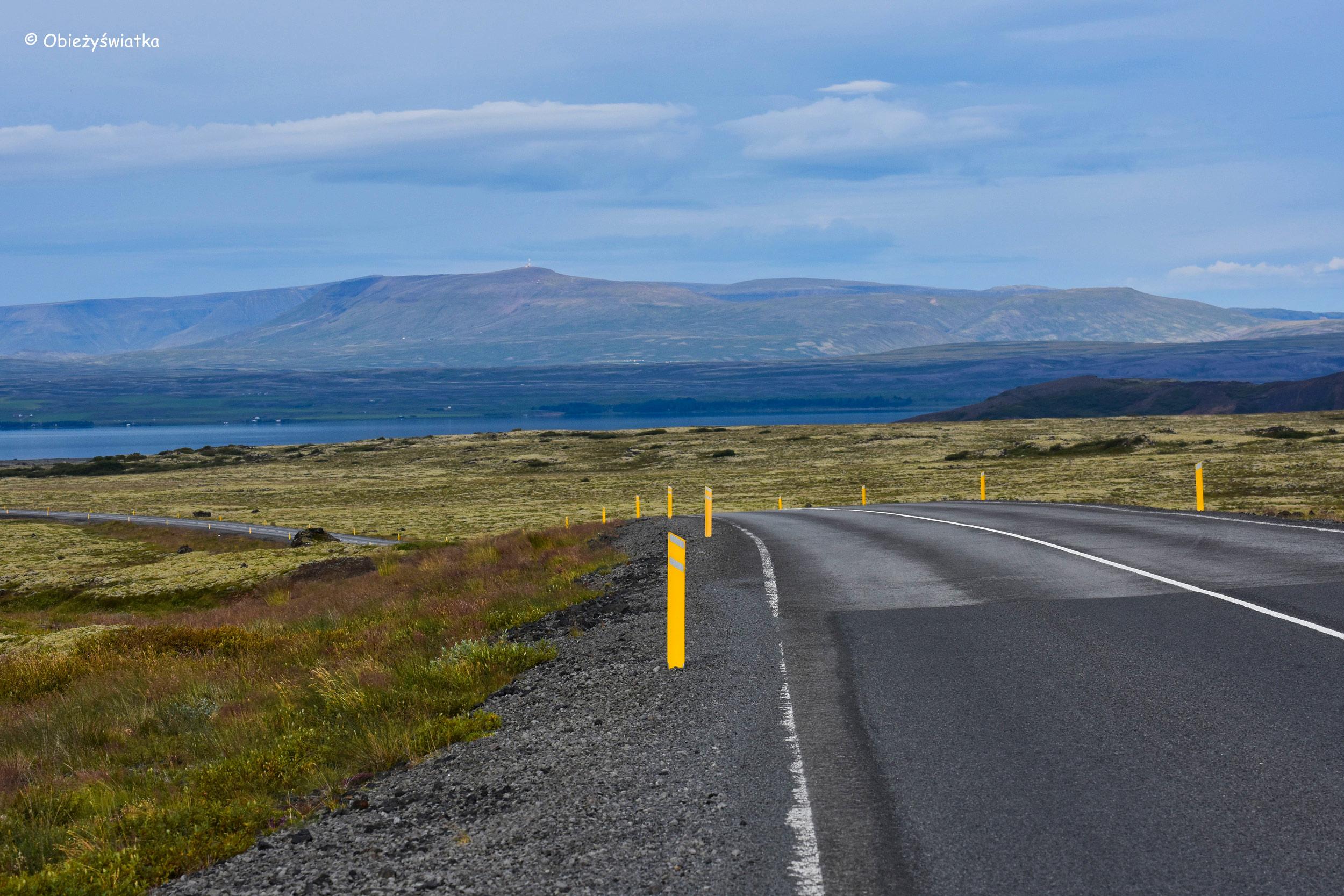 W drodze przez park narodowy Þingvellir, Islandia