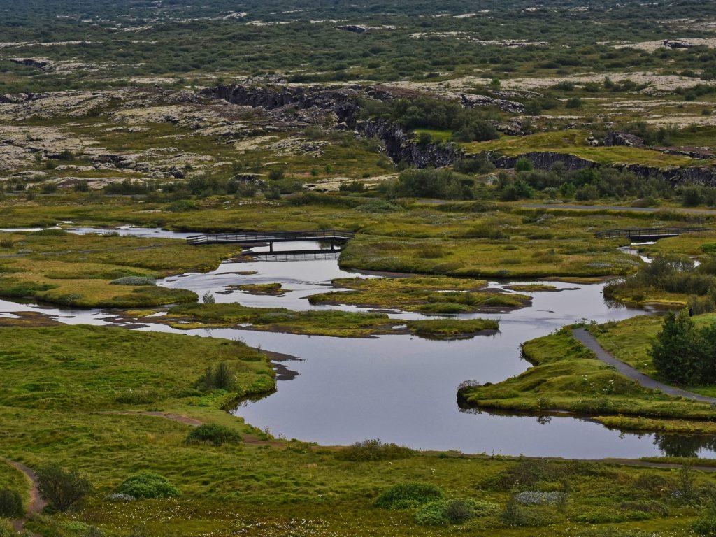 Þingvellir- woda i zieleń