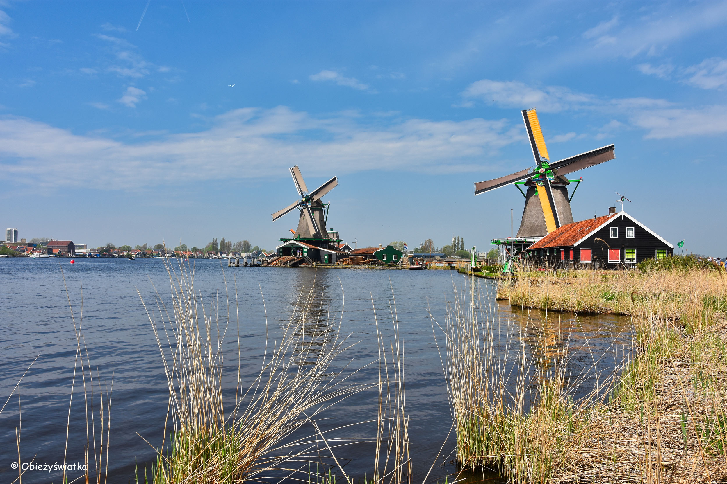 Wiatraki, Zaanse Schans, Holandia