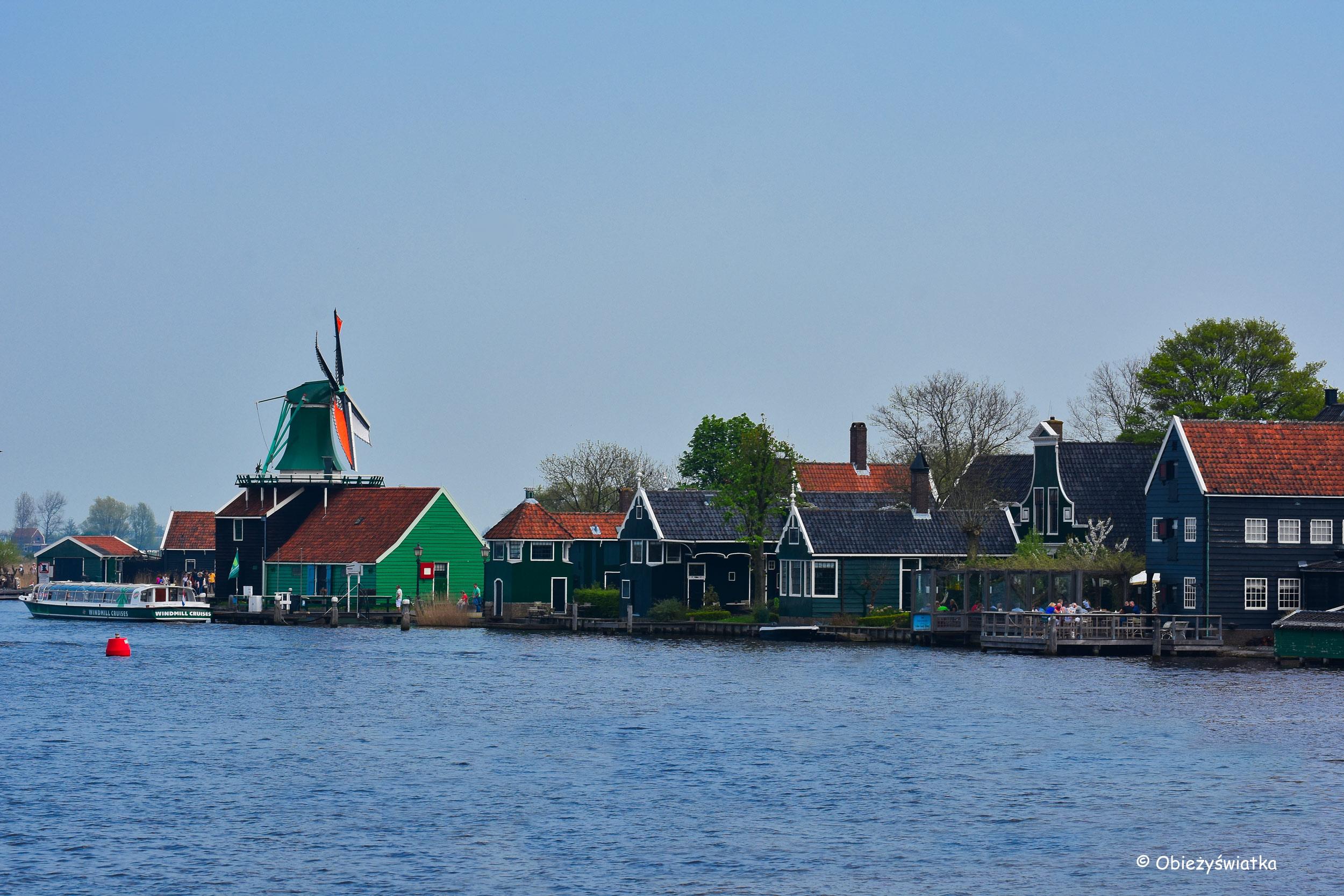 Widok na Zaanse Schans, Holandia