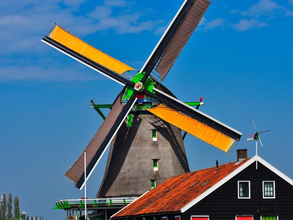 Młyn De Zoeker, Zaanse Schans, Holandia