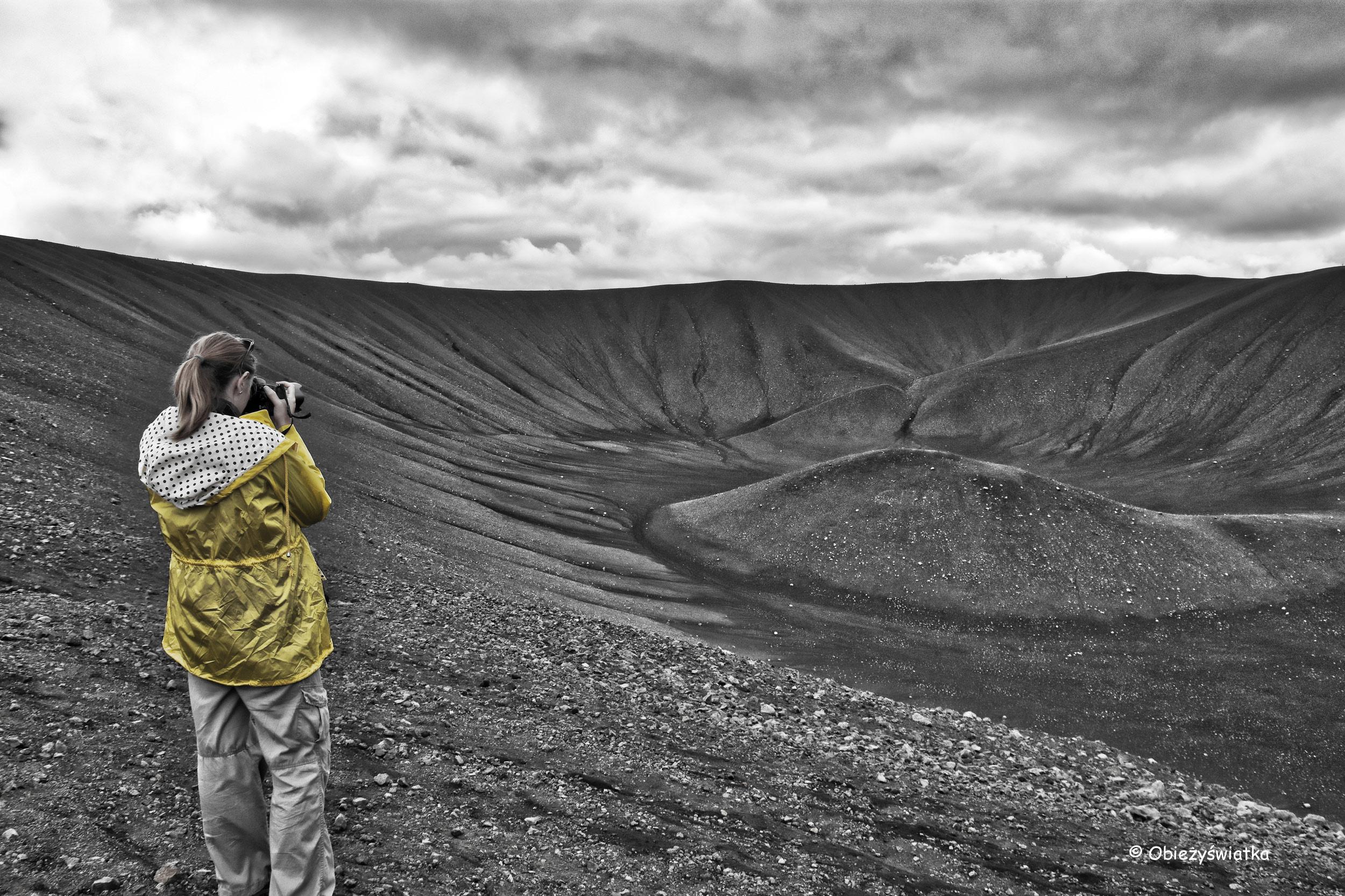 Wulkan Hverfjall, Islandia