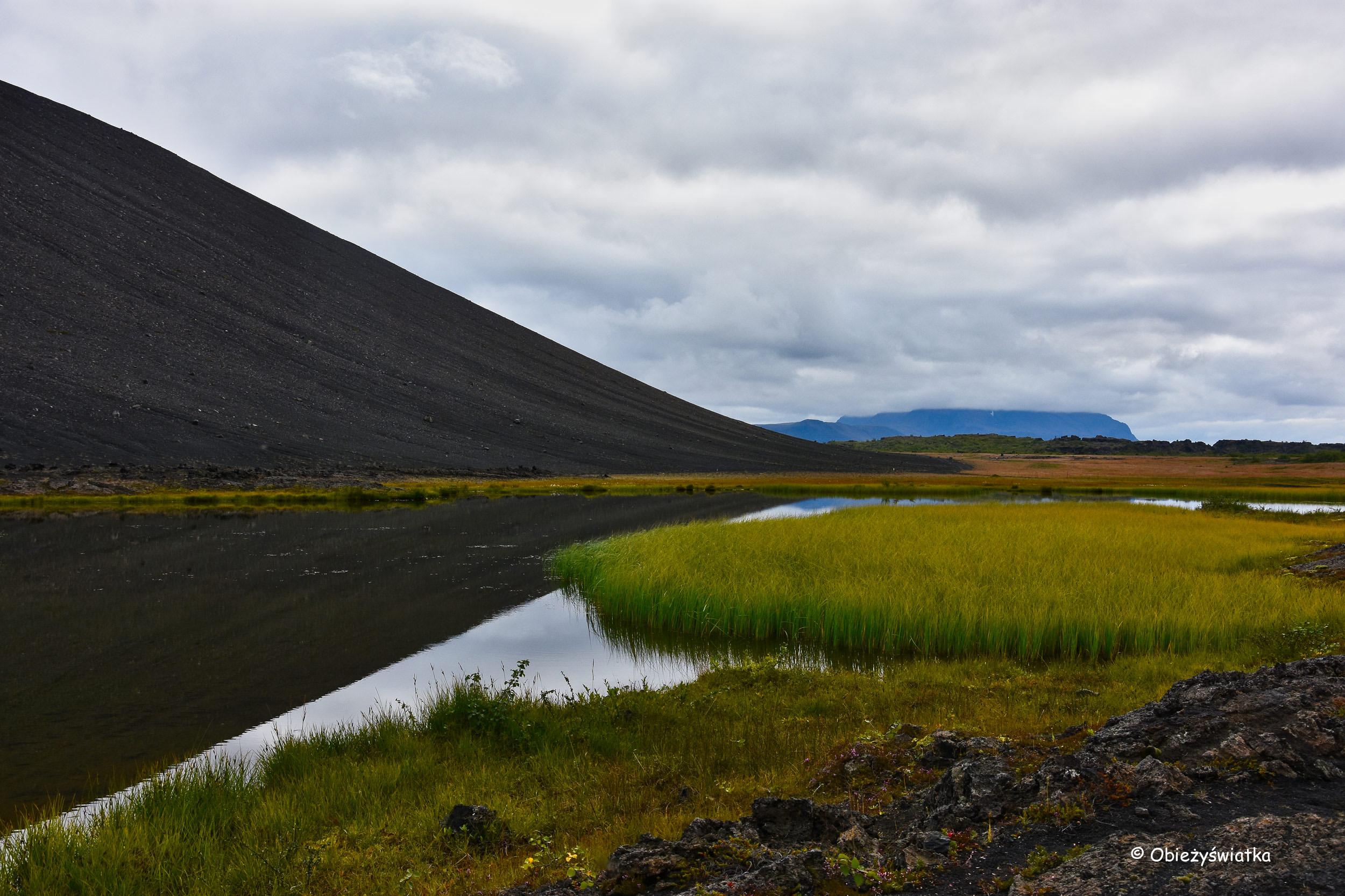 Pod wulkanem Hverfjall, Islandia