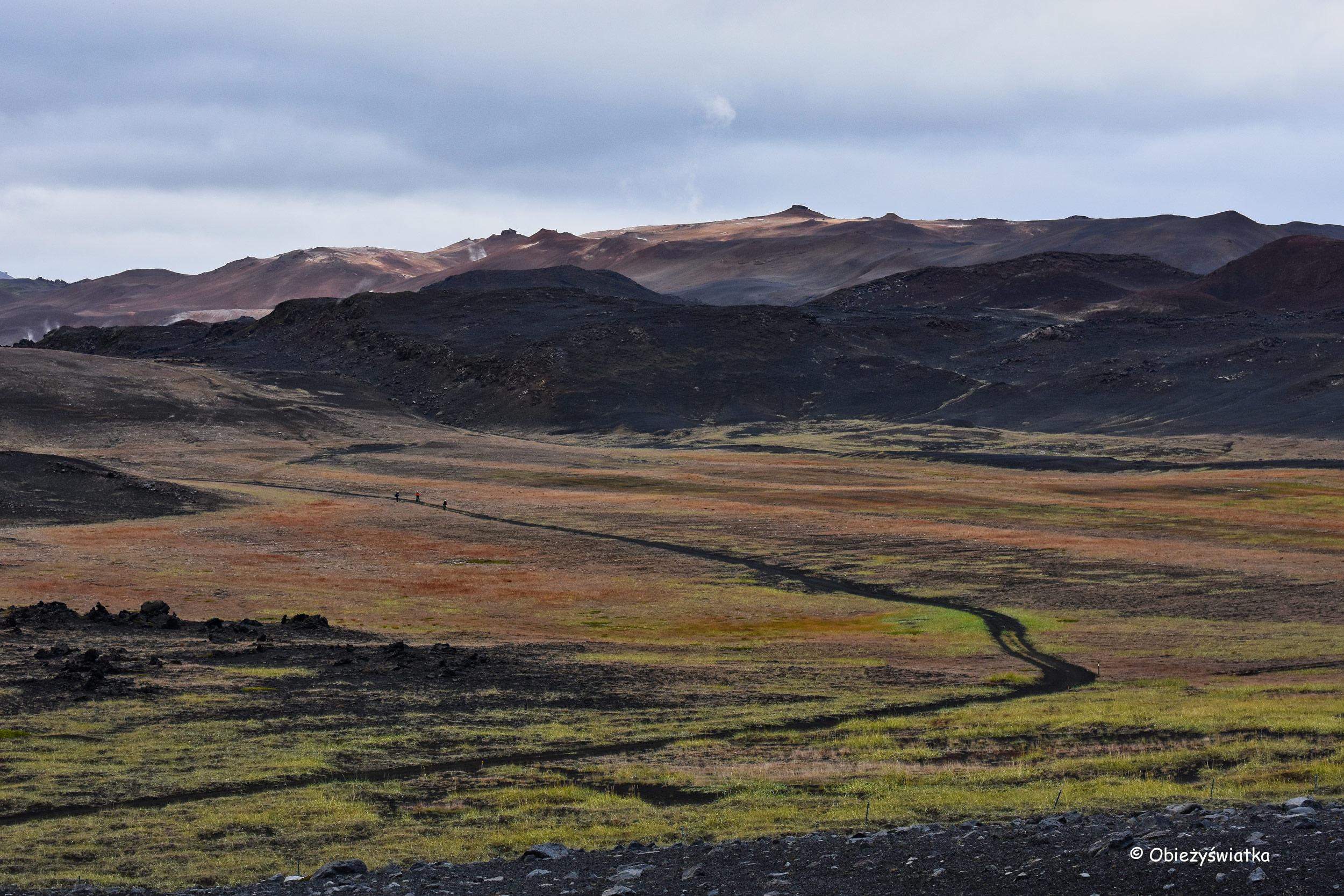 Wokół wulkanu Hverfjall, Islandia