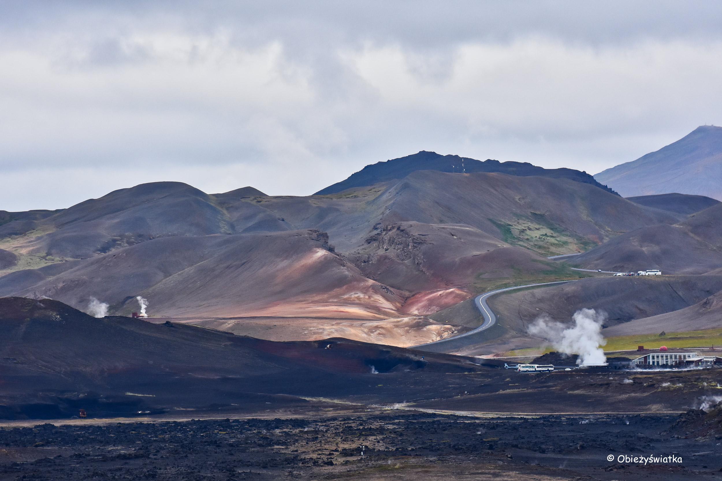 Islandia widziana z wulkanu Hverfjall