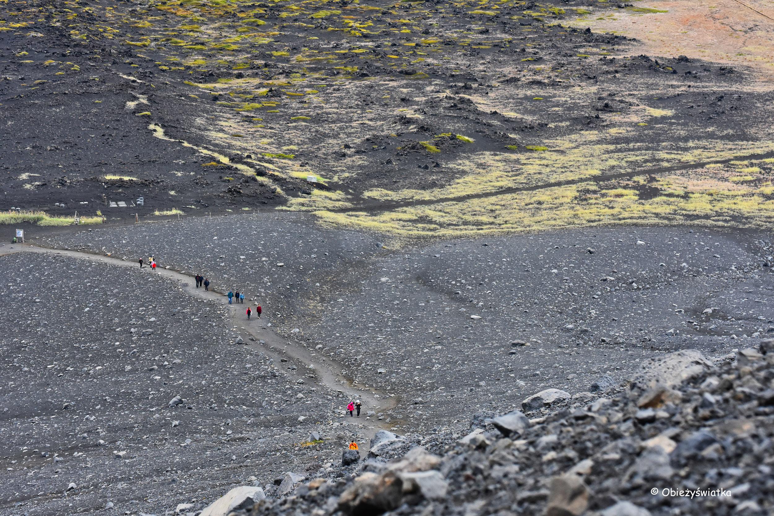 Ścieżka na wulkan Hverfjall, Islandia