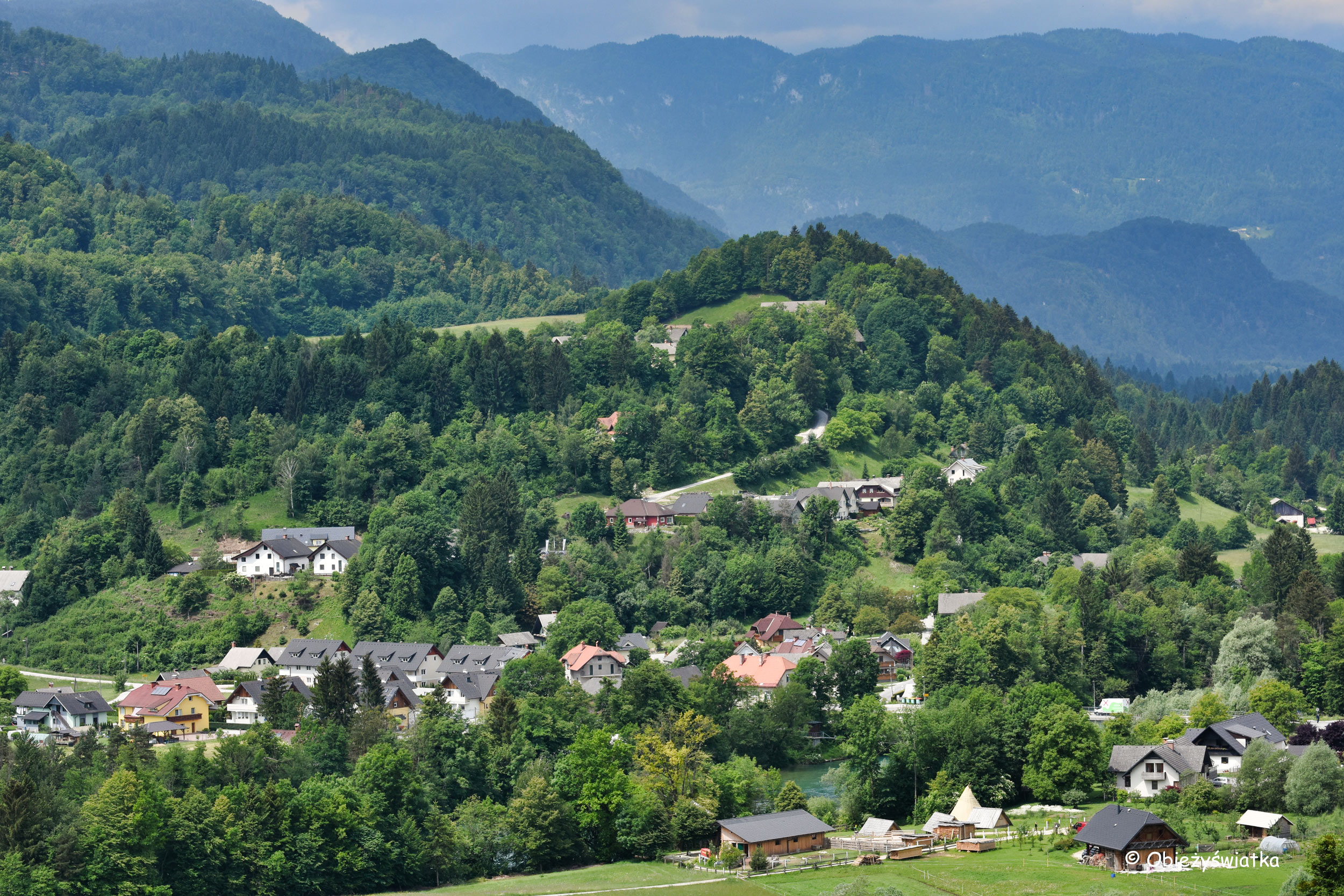 Widok na okolicę z Radovljicy, Słowenia