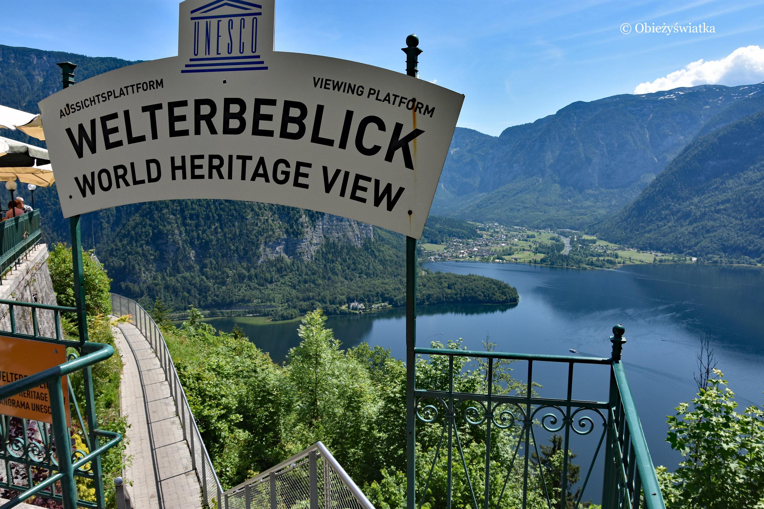 Platforma widokowa w Hallstatt - Welterbeblick
