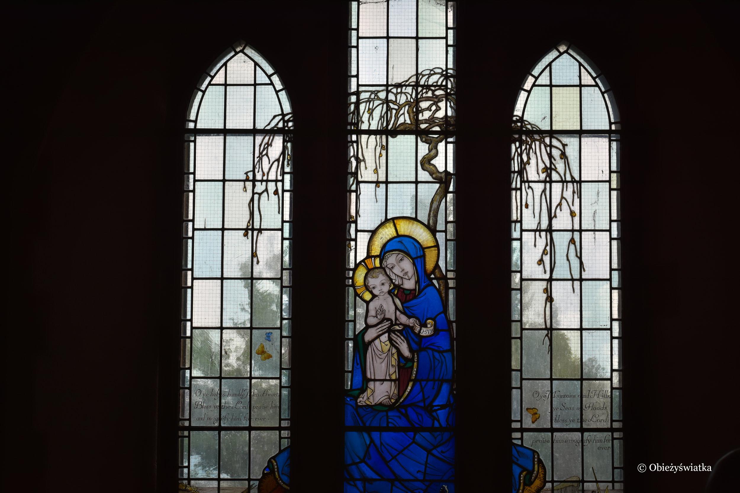 Witraż w kościółu w Tyneham
