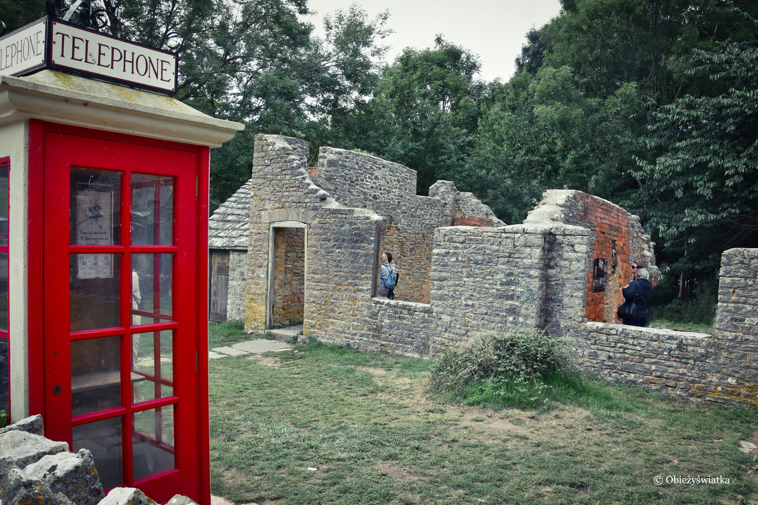 Pozostałości po wiosce Tyneham