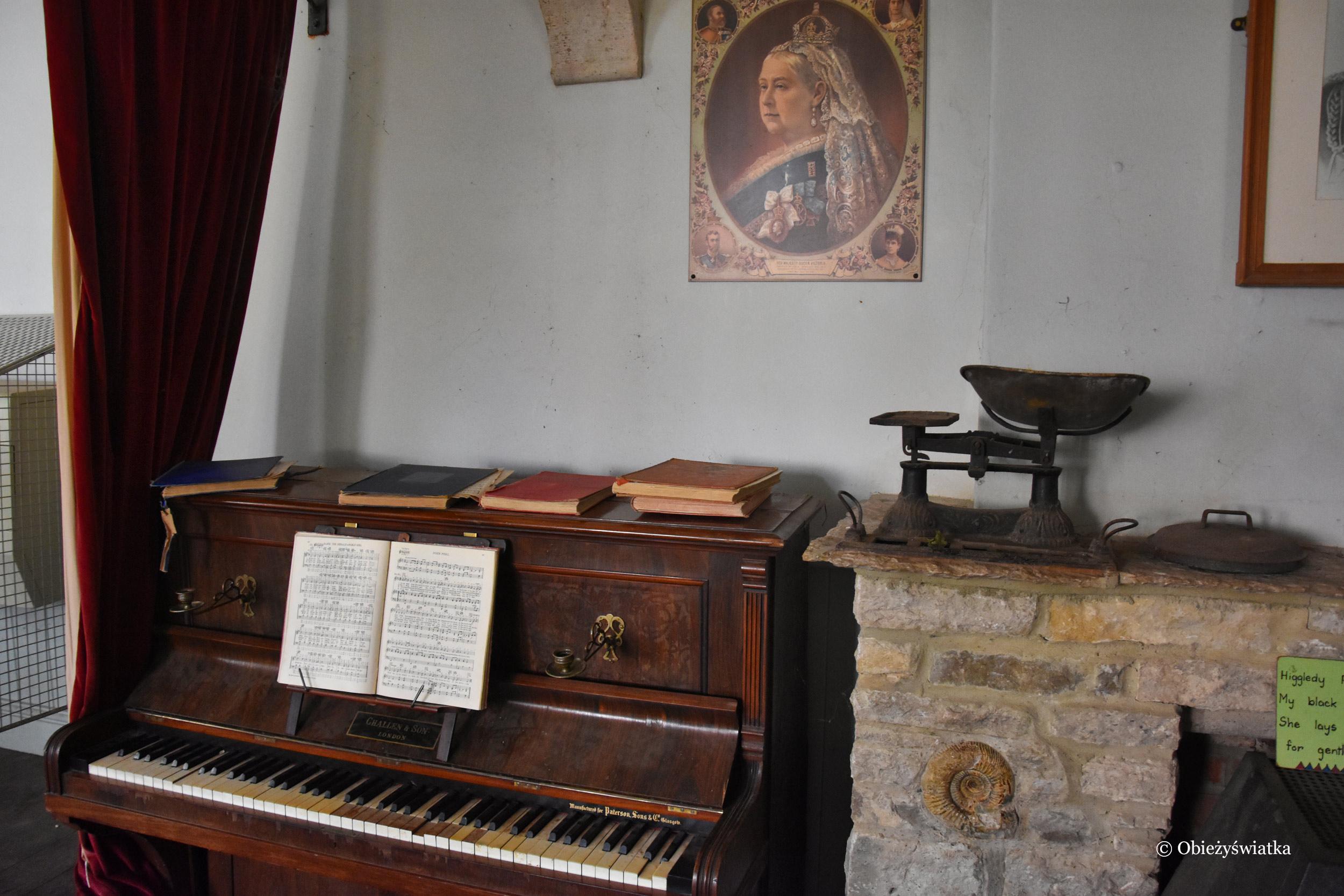Szkolna sala, dzisiaj małe muzeum, Tyneham