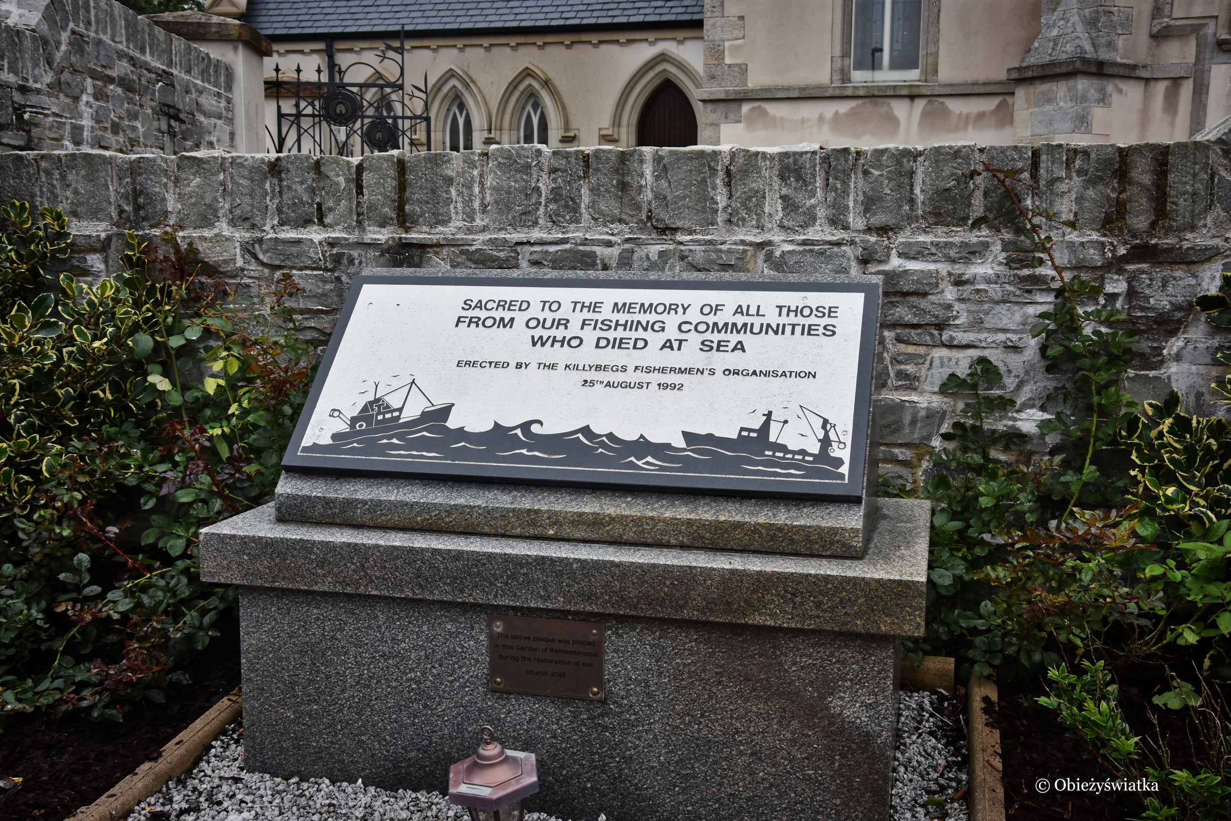 Killybegs - tablica pamiątkowa dla tych, którzy zginęli na morzu