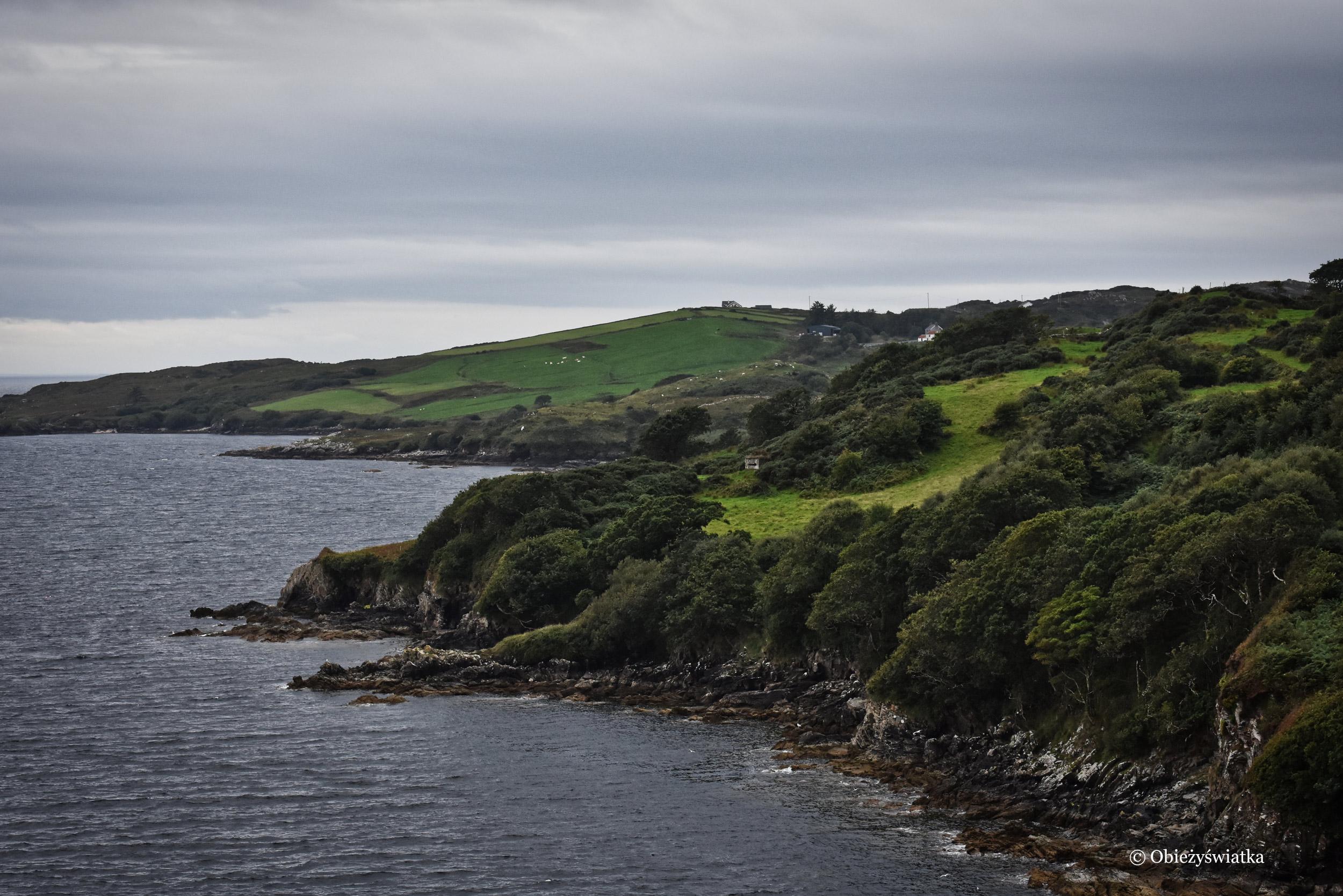 Łagodne, zielone wzgórza Irlandii
