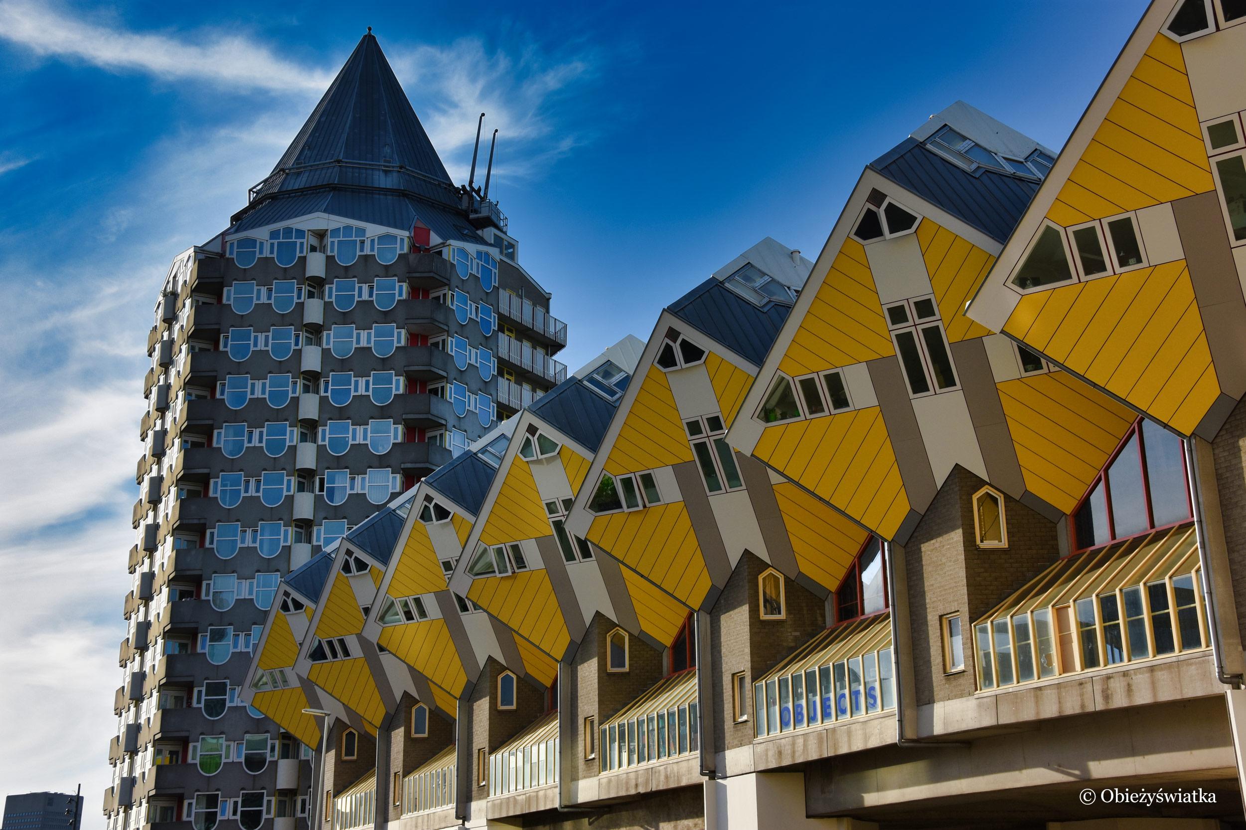 Z miłości do geometrii - Cube Houses, Rotterdam