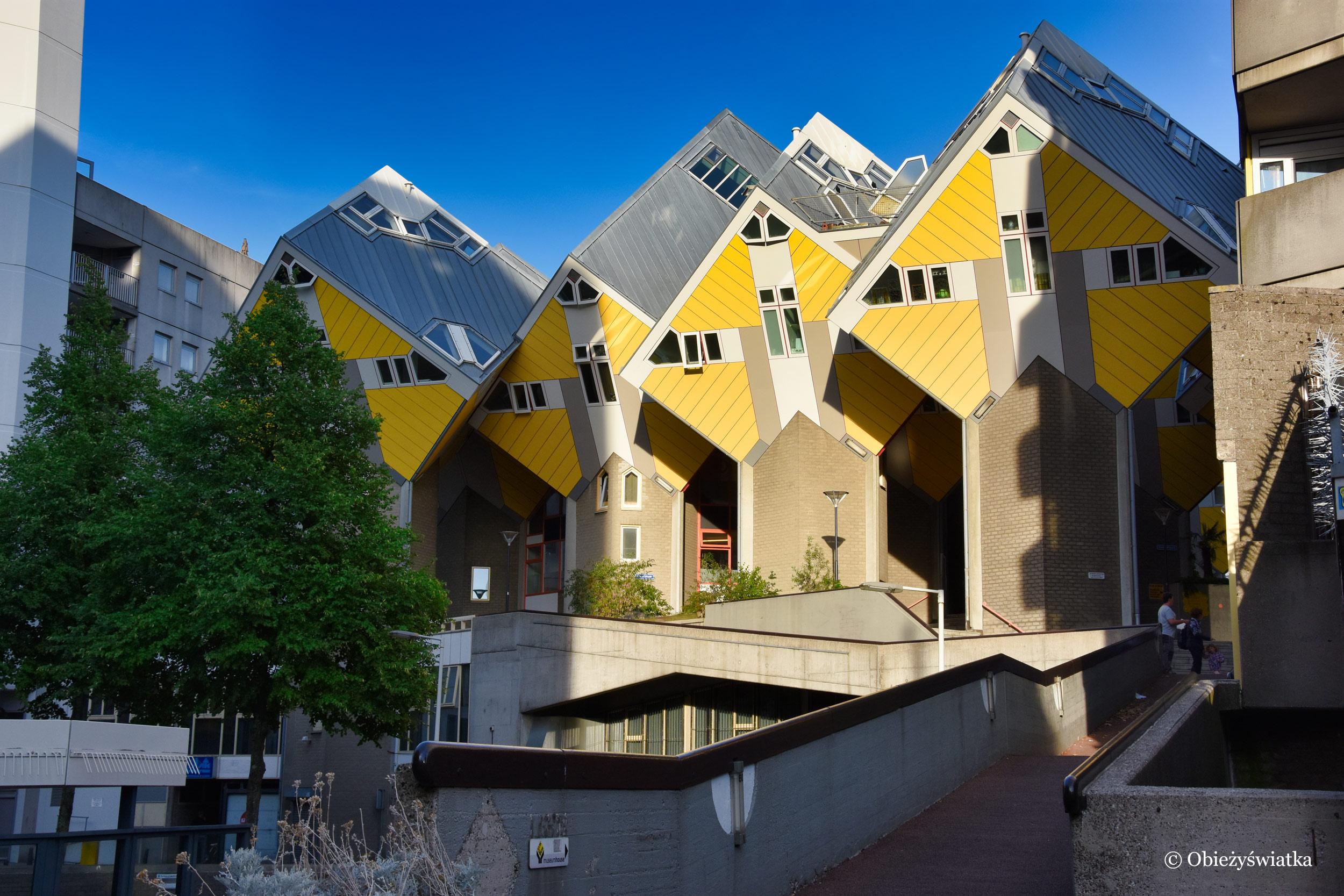 Chodź, pomaluj mój świat - na żółto i na niebiesko ;) - Cube Houses, Rotterdam