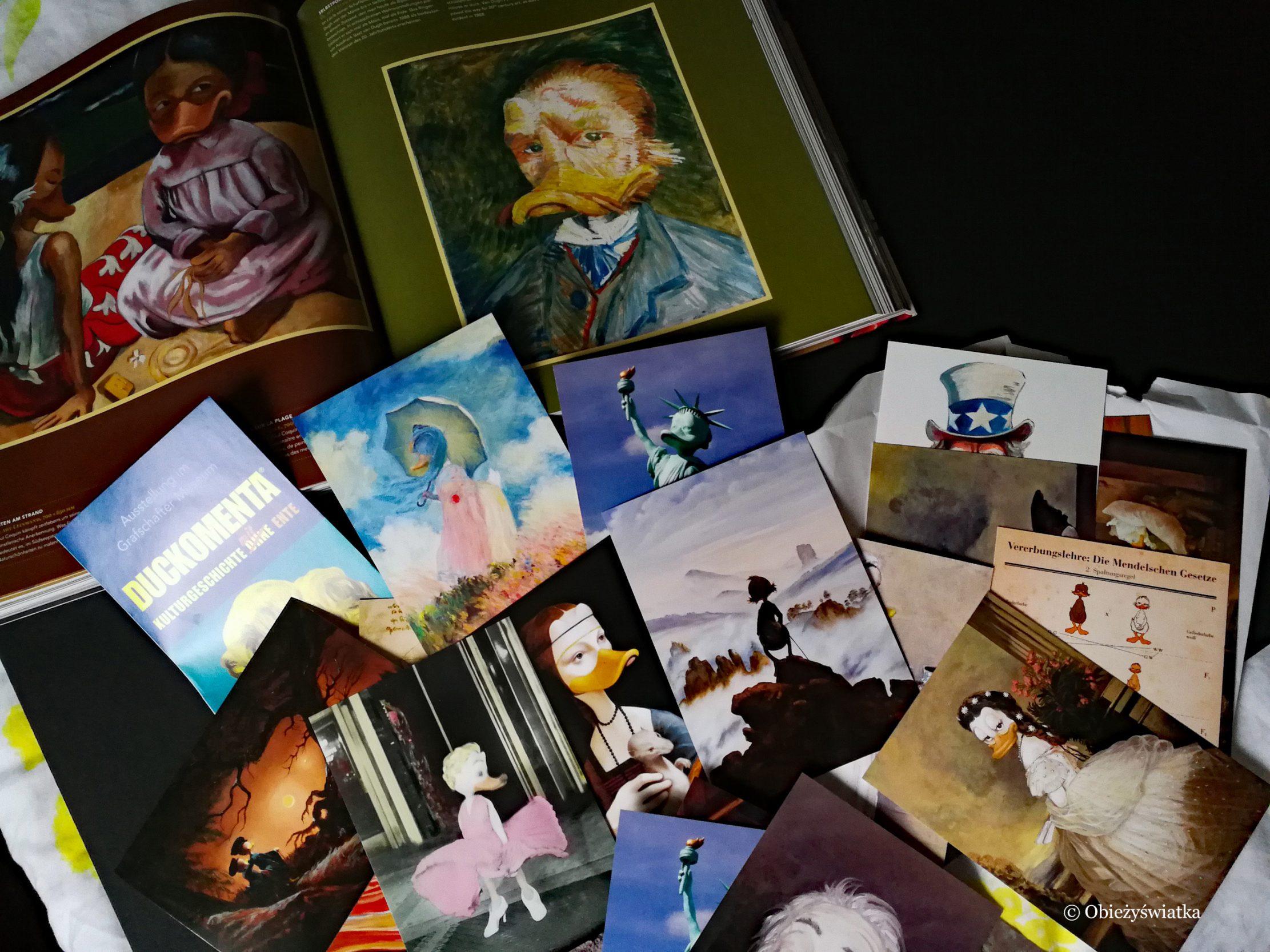 Duckomenta - pocztówki i katalog