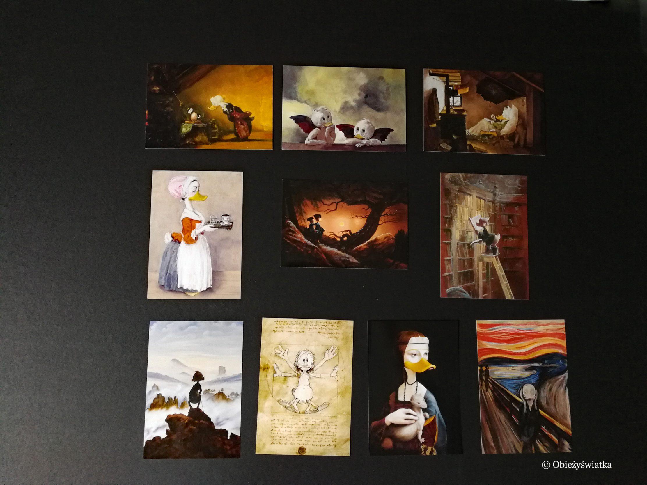 Duckomenta - zdobycze pocztówkowe