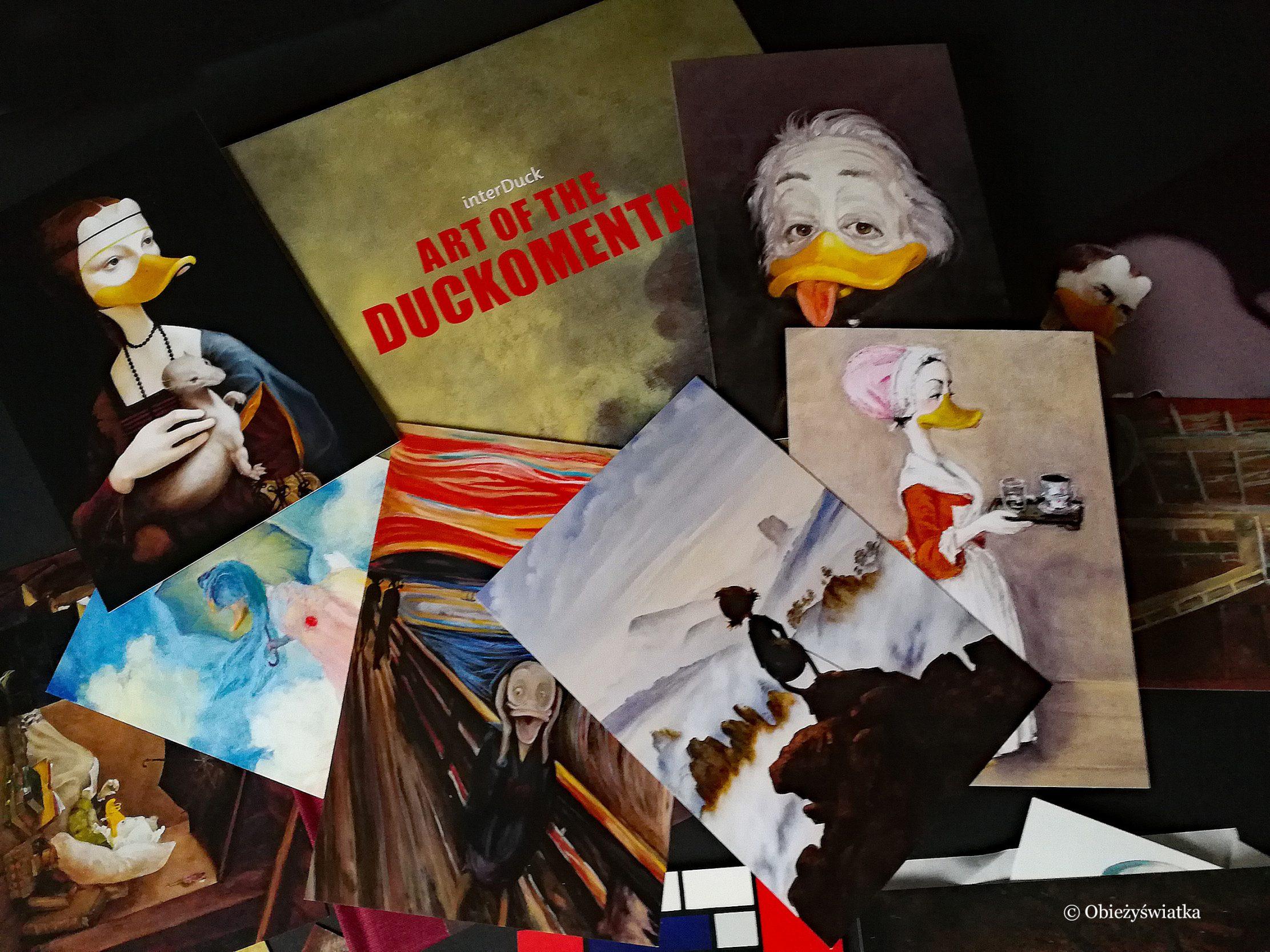 Duckomenta - katalog wystawy i pocztówki