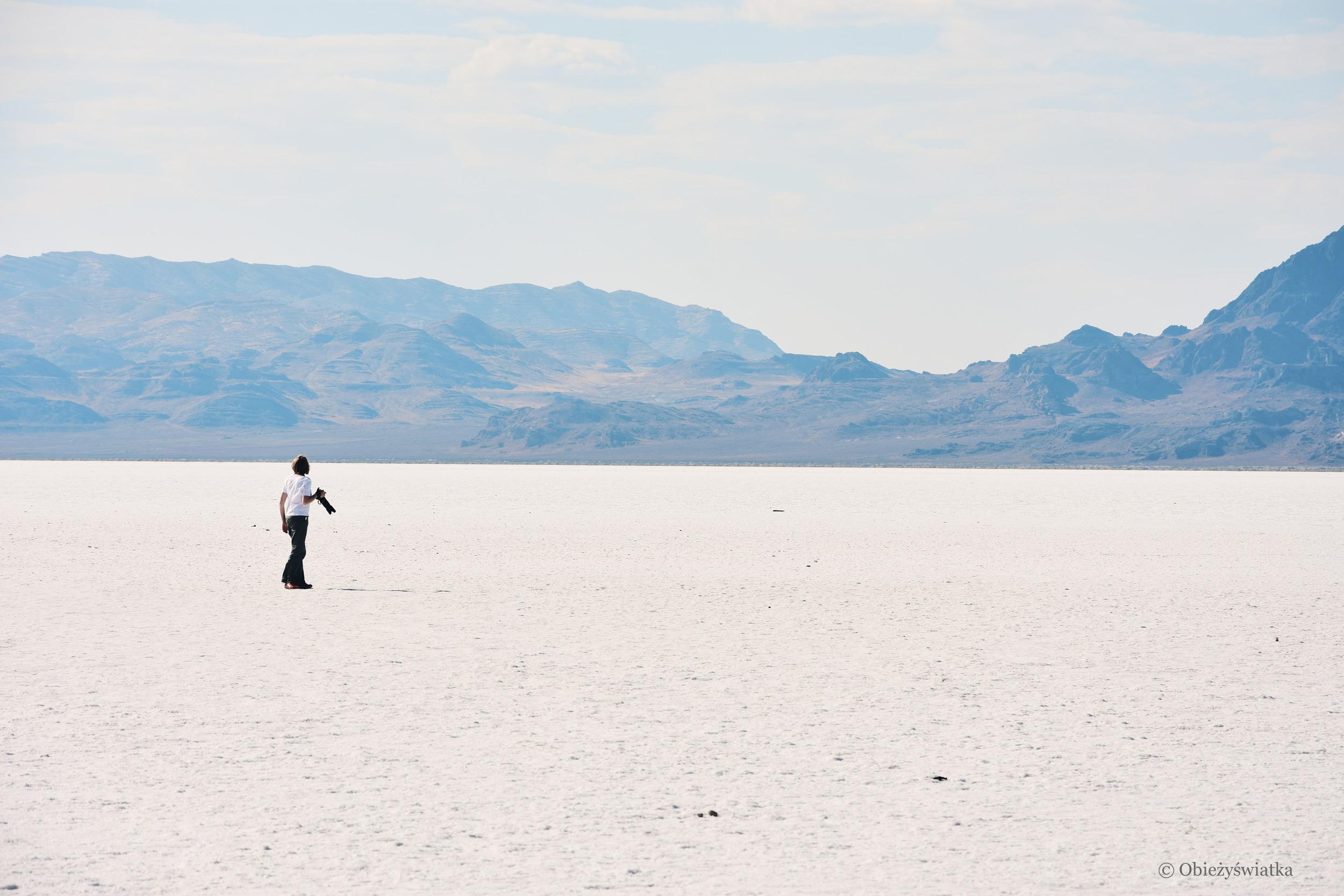 Zagubiona w słonej bieli :), Great Salt Lake Desert