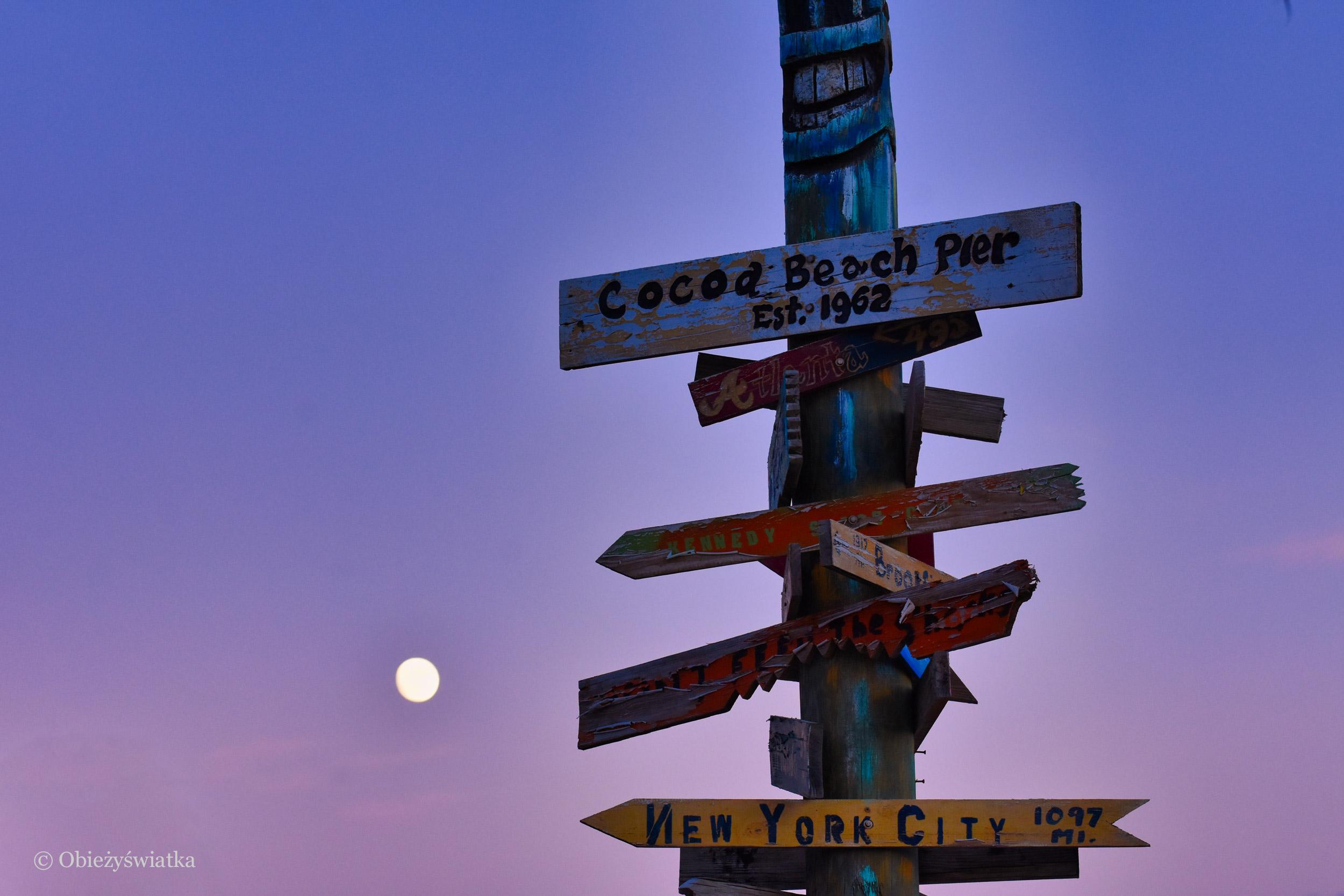 Drogowskaz, Cocoa Beach, Floryda