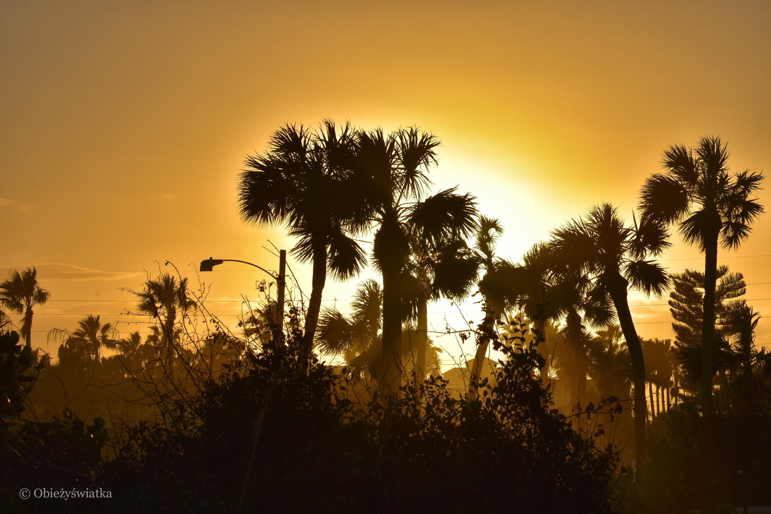 Zachód słońca w Cocoa Beach