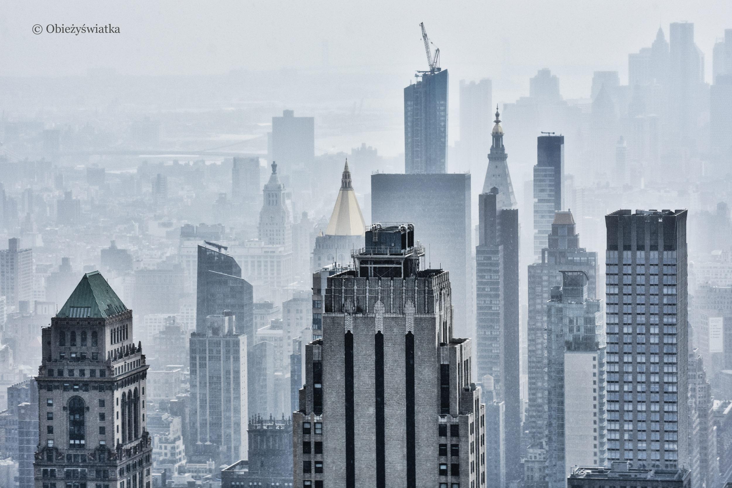 Widok z platformy widokowej Rockefeller Center, Nowy Jork