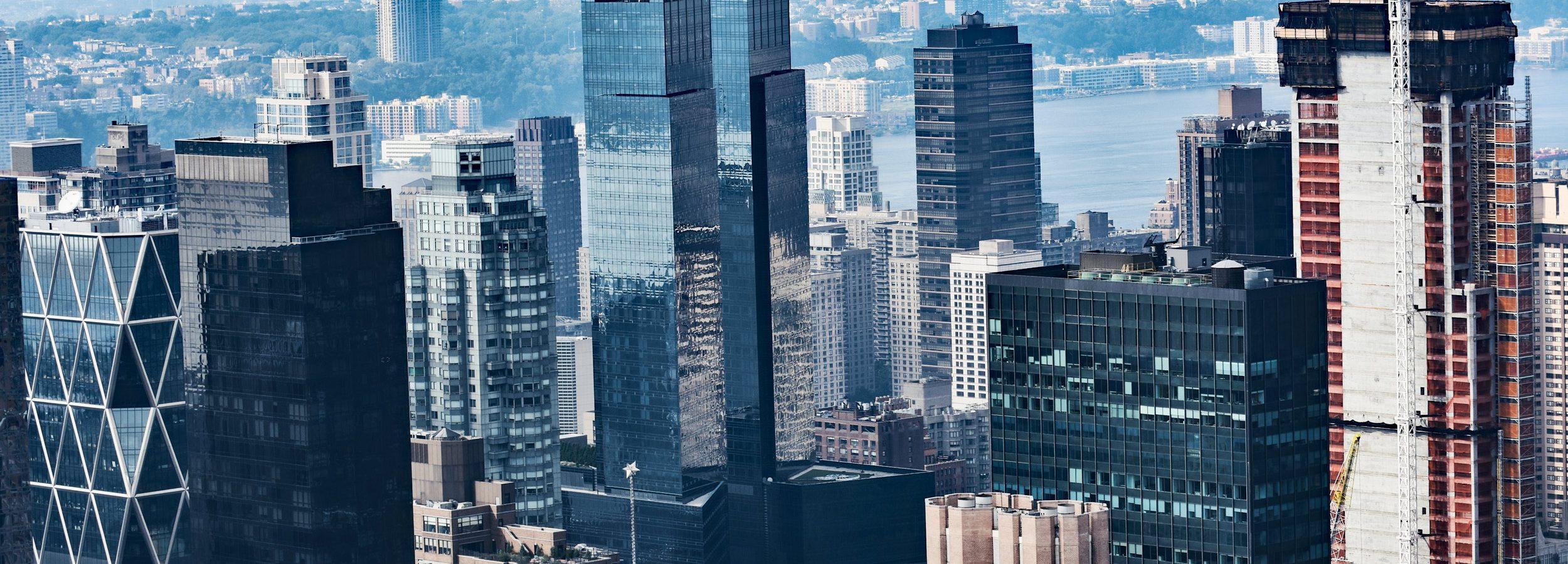 Widok z platformy widokowej Rockefeller Center, NY