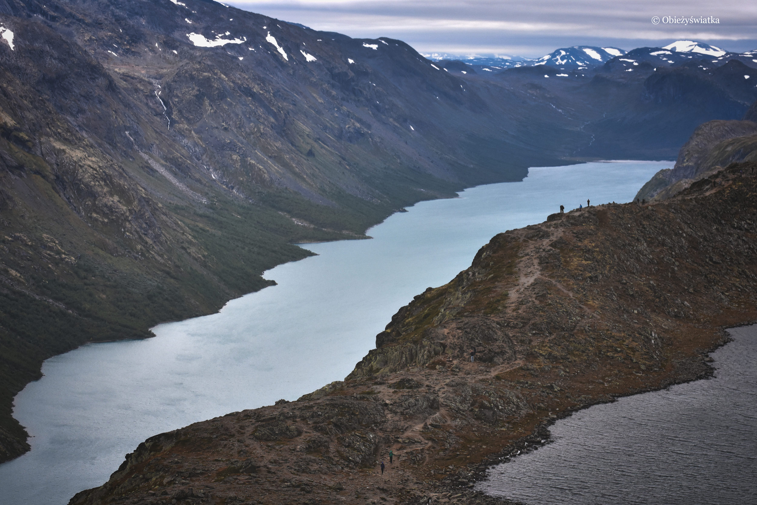 Dwa jeziora - Gjende i Bessvatnet