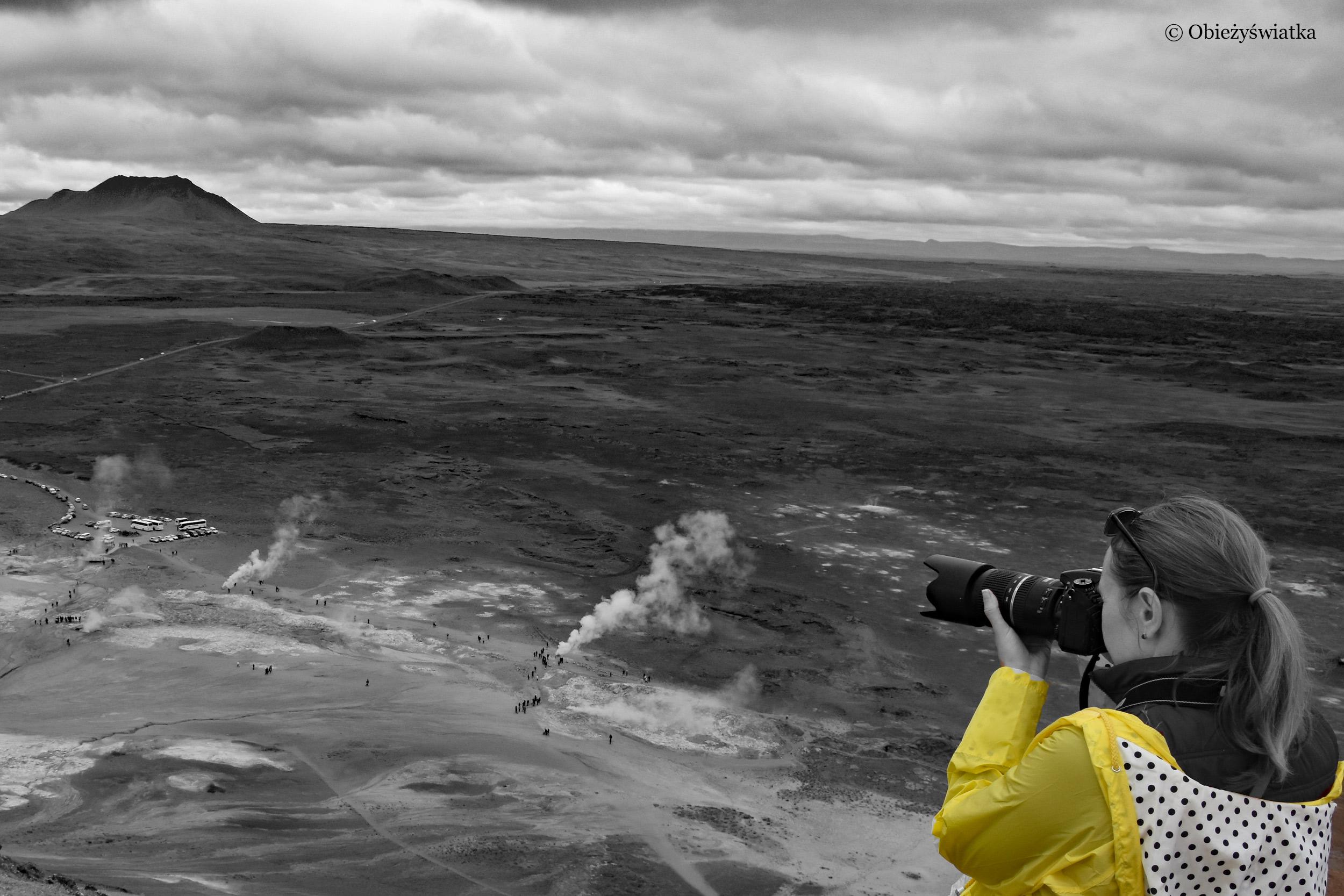 Na wgórzu Námafjall, Islandia