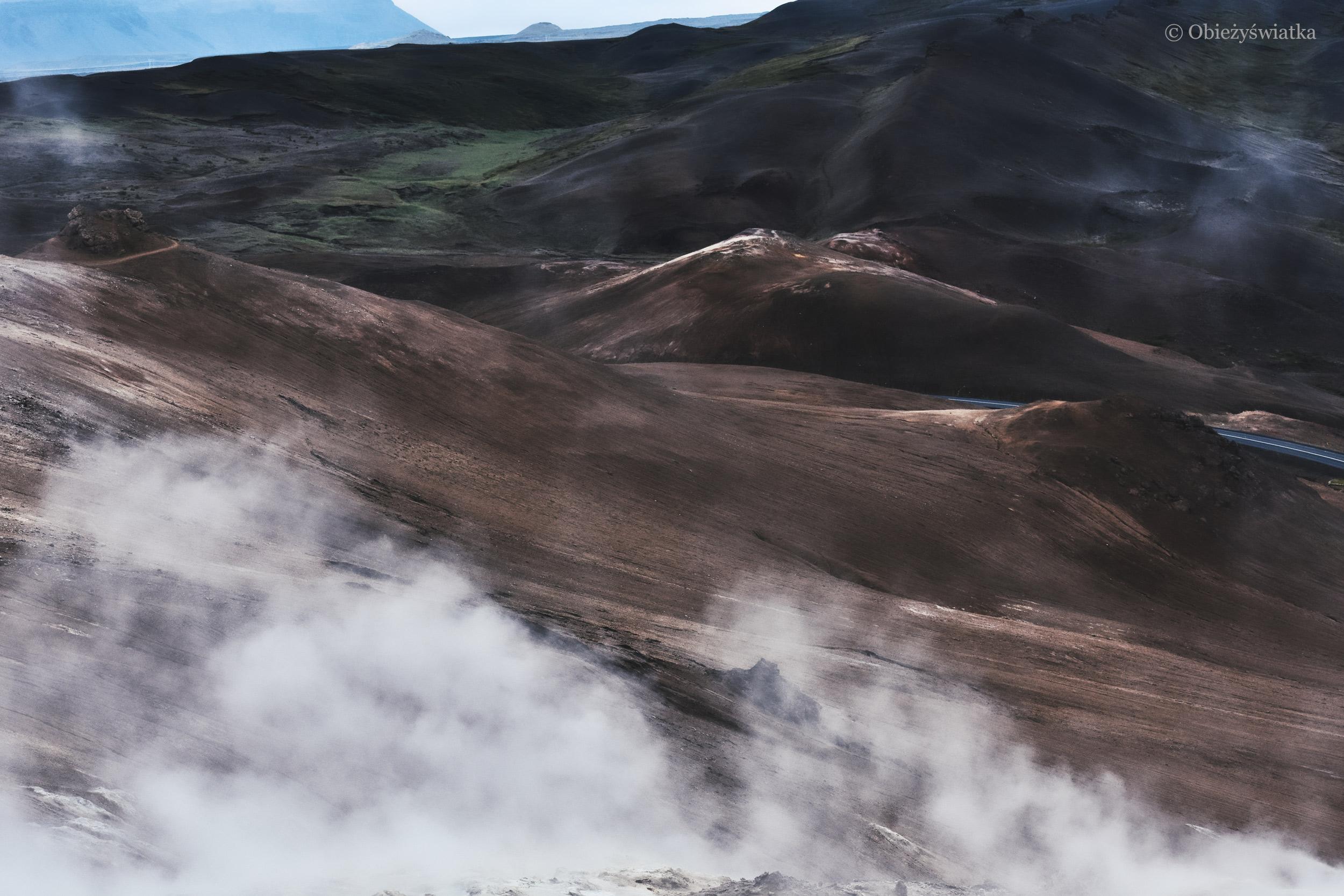 Wulkaniczny krajobraz Islandii