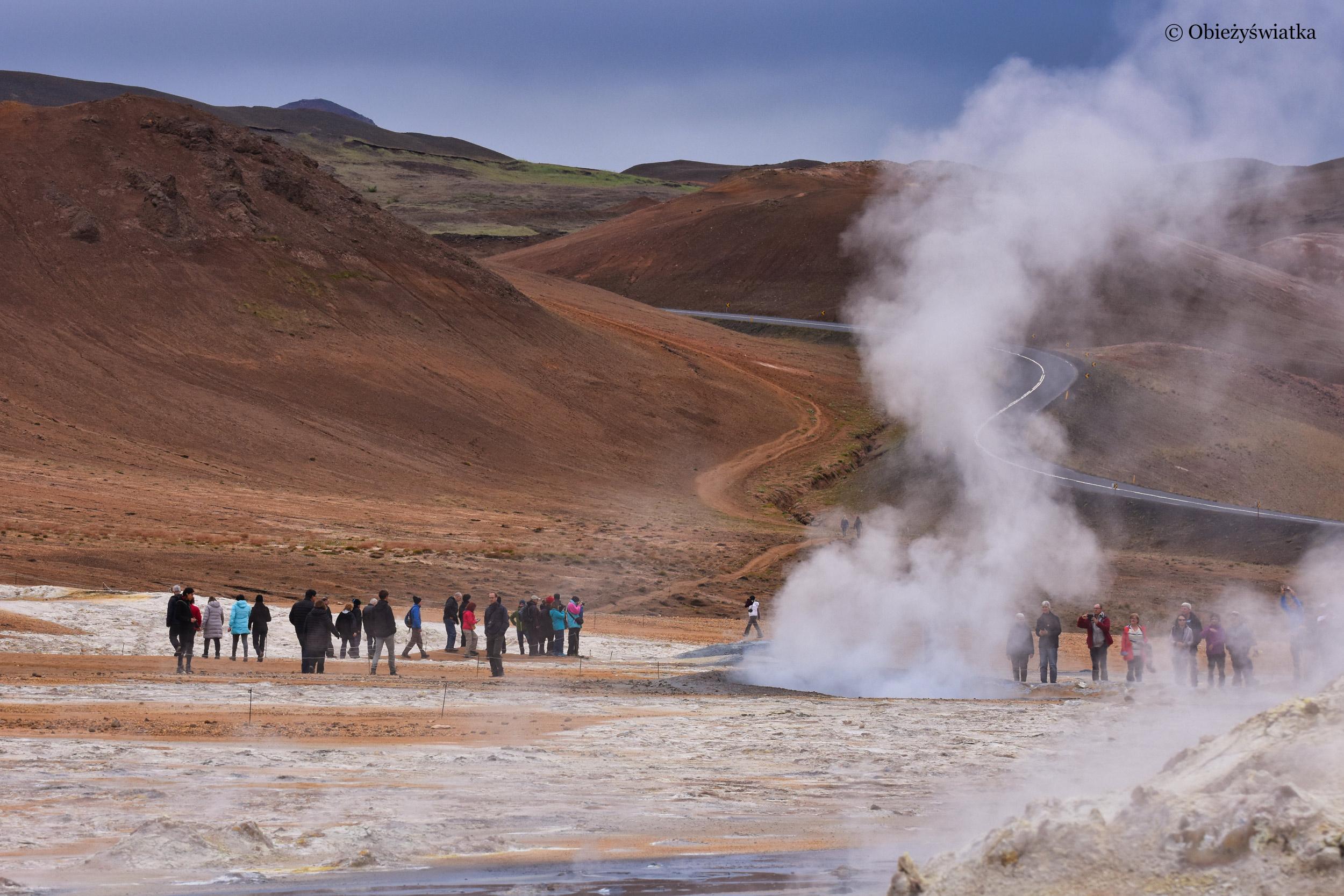 Fumarole i zapach siarki, Islandia