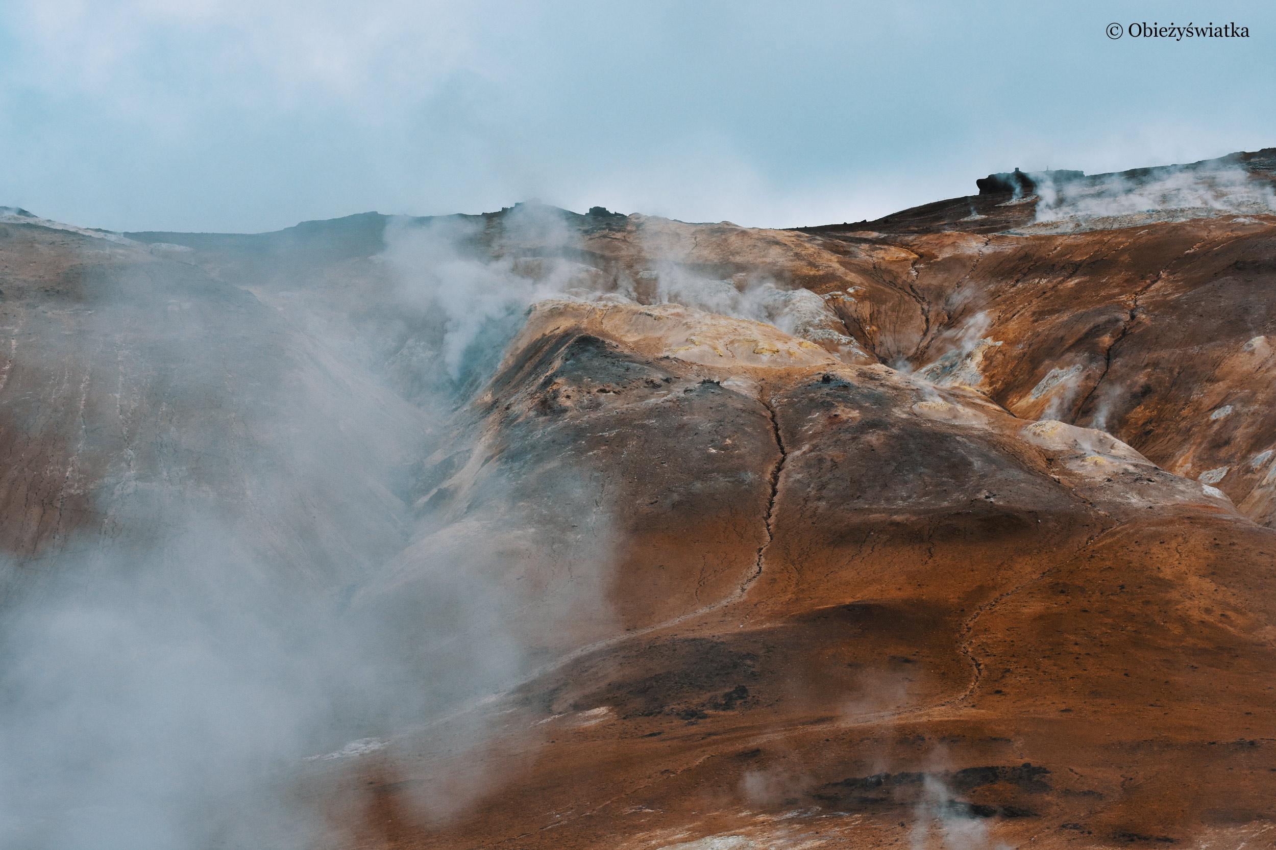 Surowy krajobraz Islandii