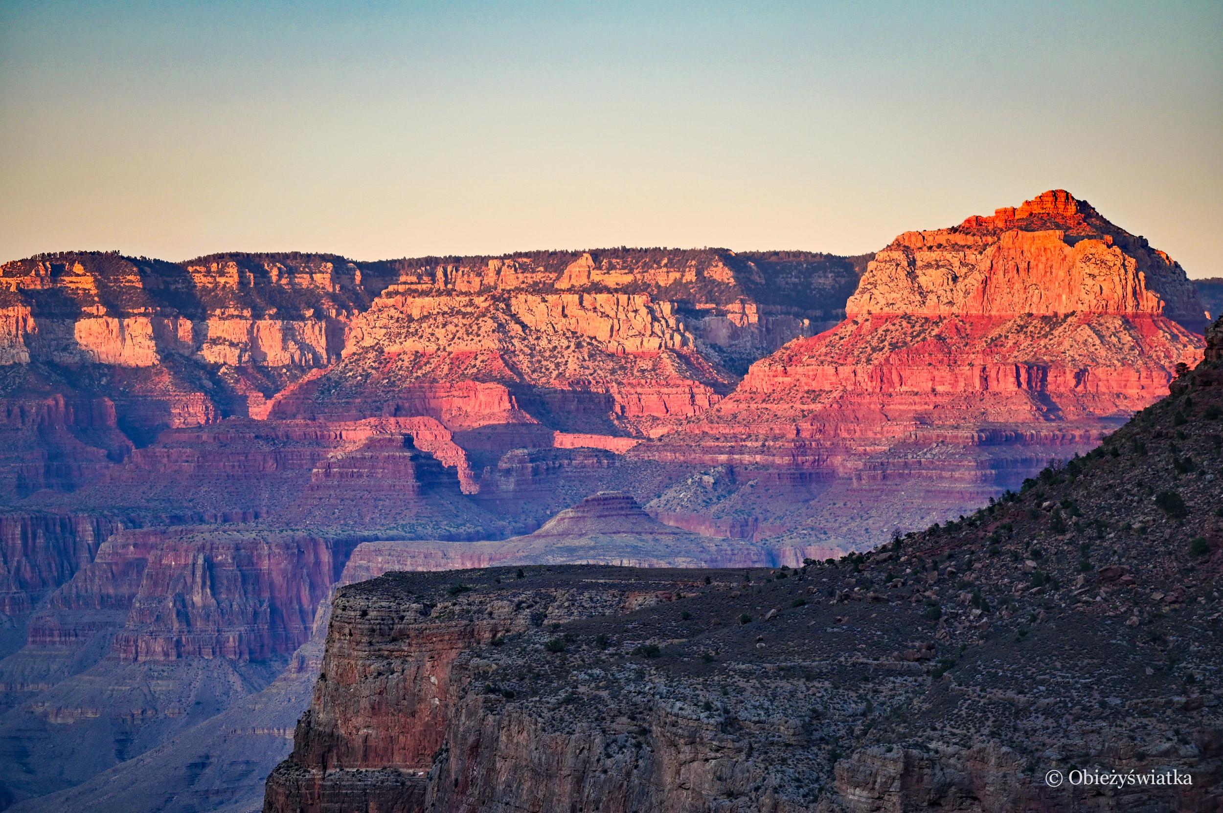 Grand Canyon o zachodzie słońca, Arizona