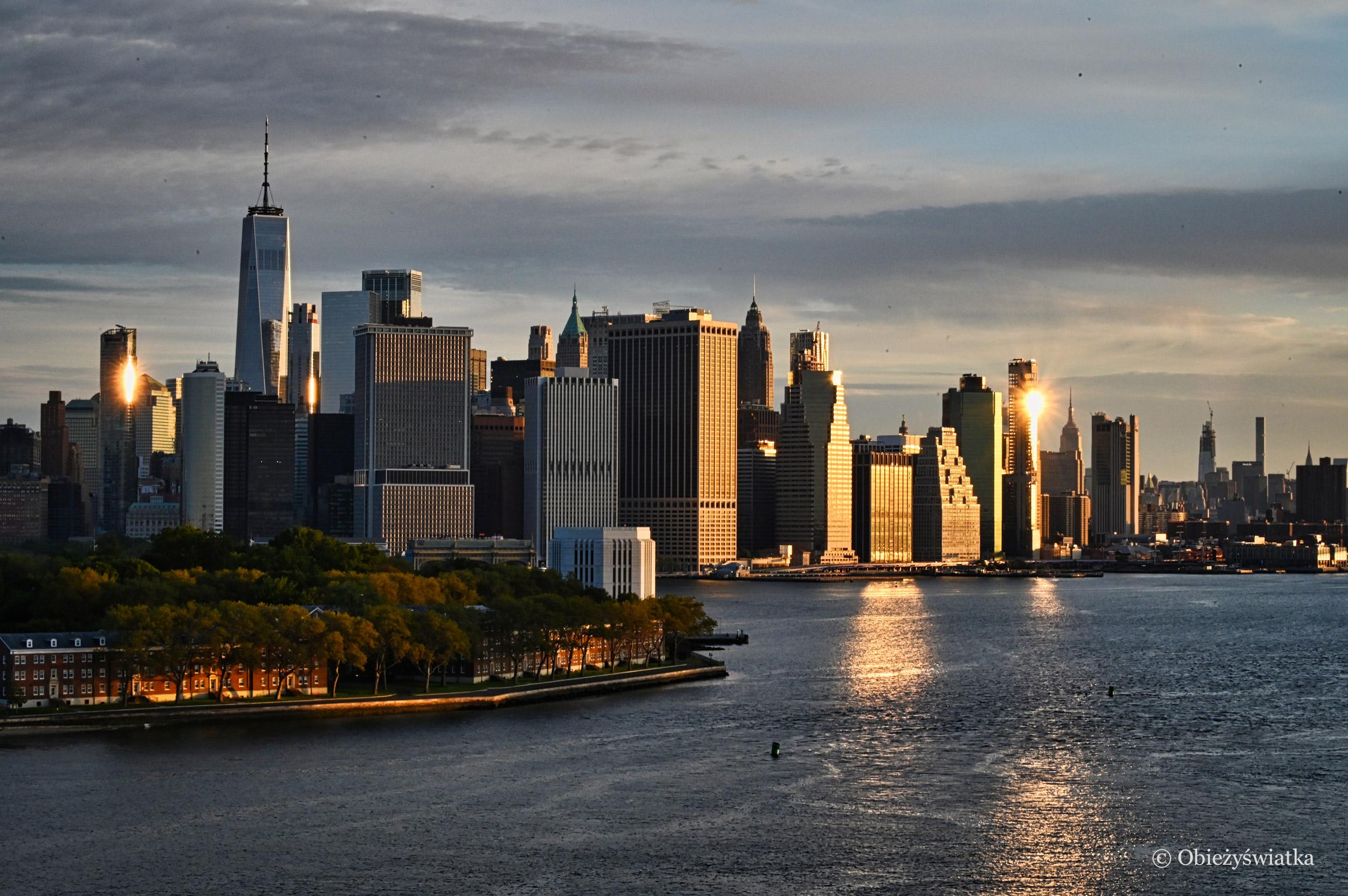 Wschód słońca na Manhattanie, Nowy Jork