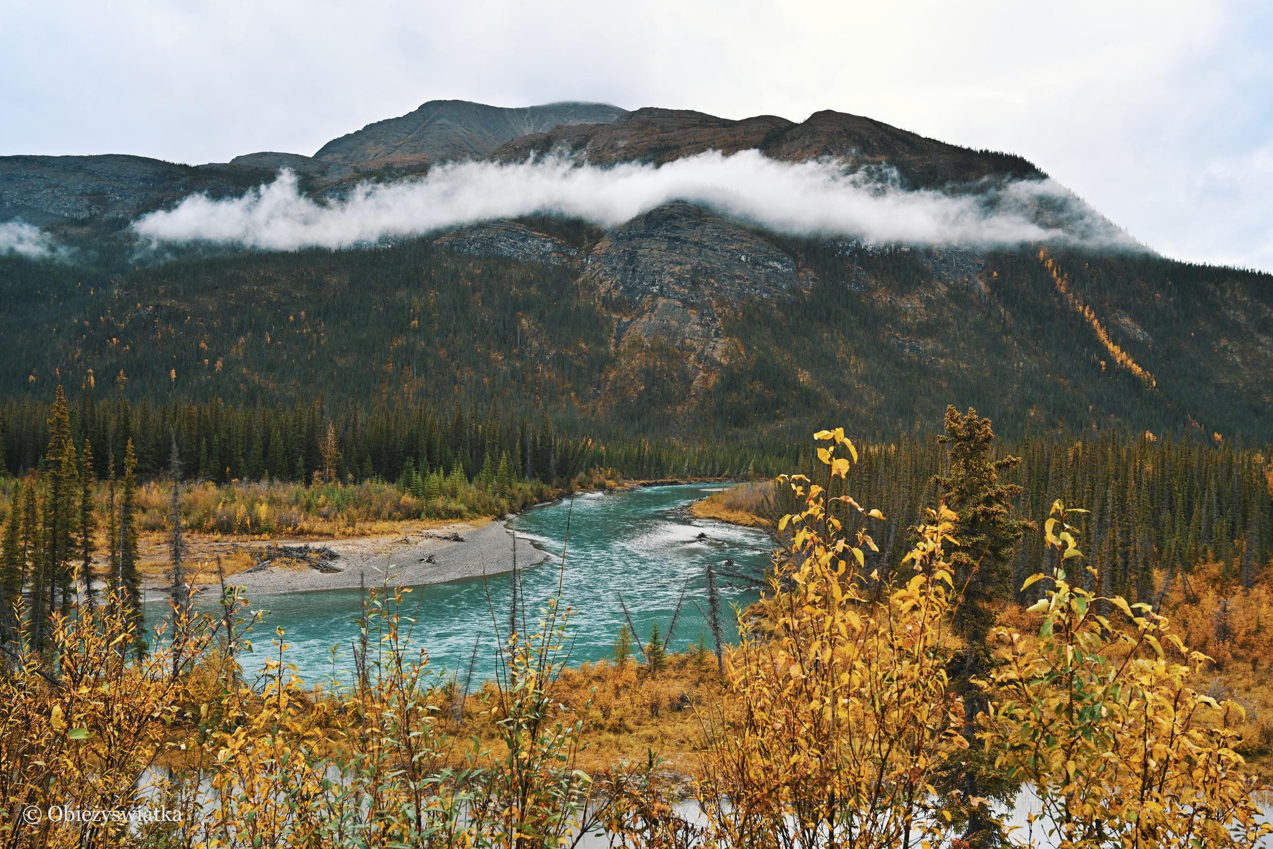 Jesień w Yukonie, Alaska Highway, Kanada