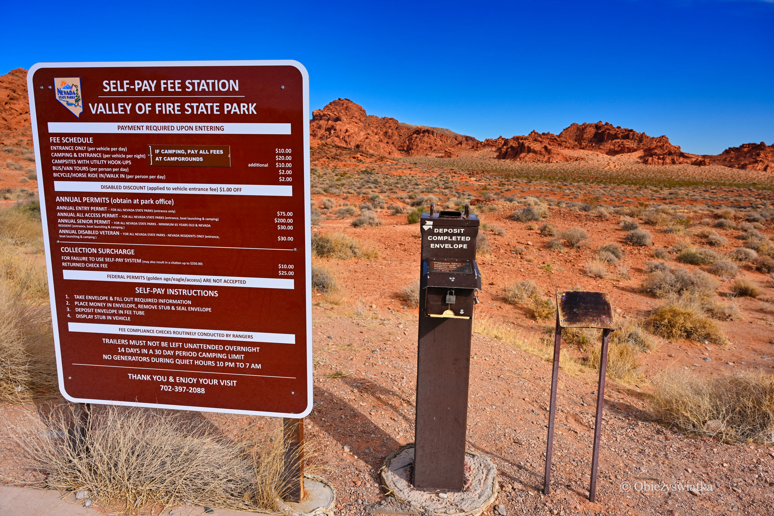 Self-payment station, Valley of Fire, Nevada