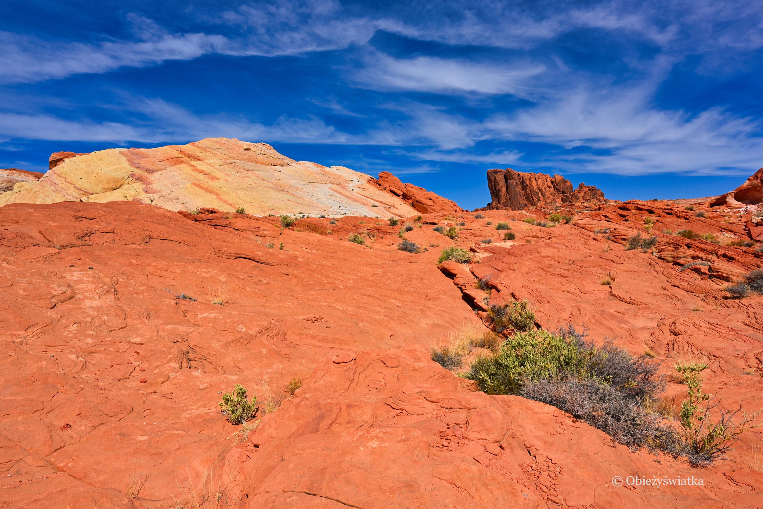 Czerwień skał łamana błękitem nieba..., Dolina Ognia