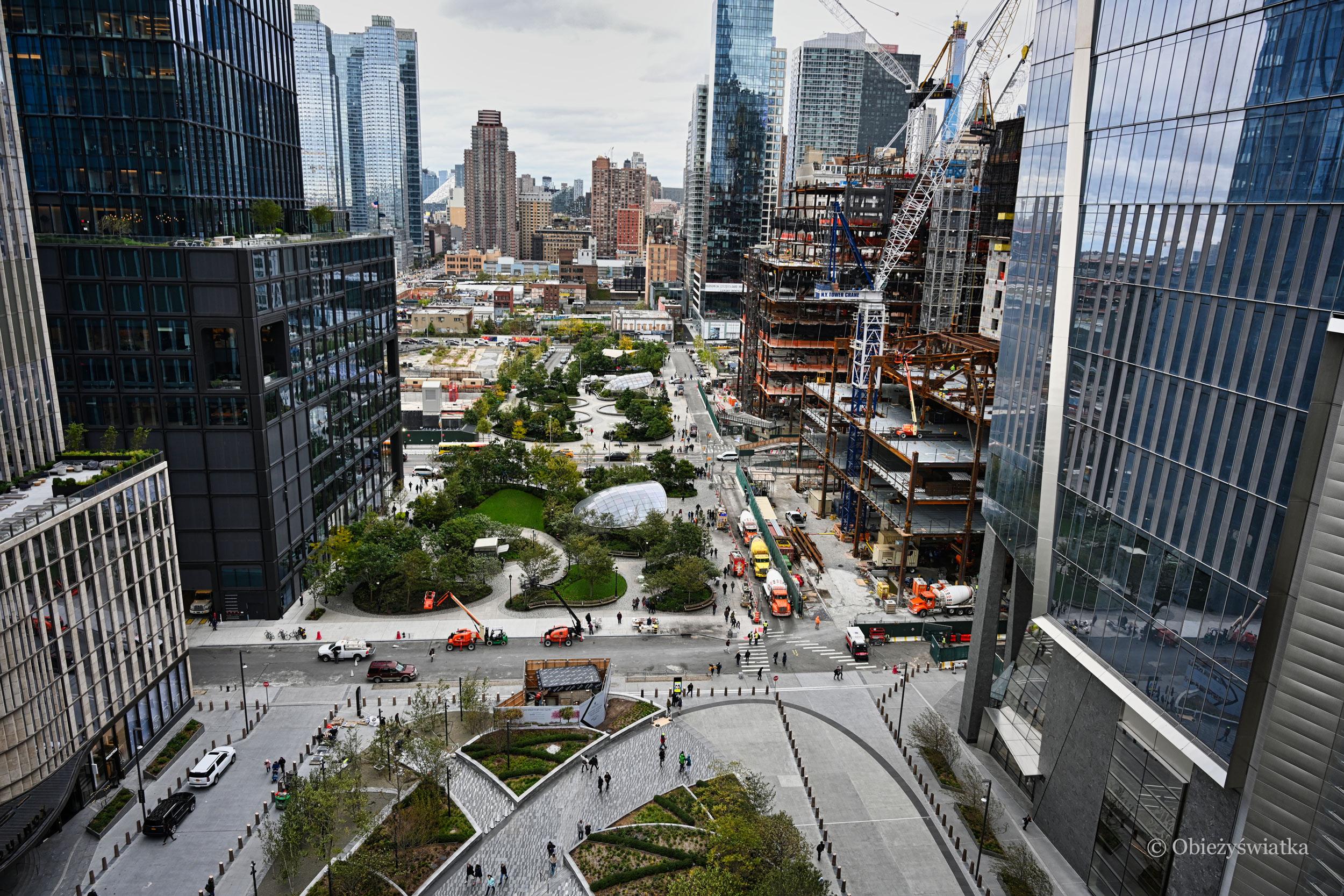 Widok z platformy widokowej The Vessel, Nowy Jork