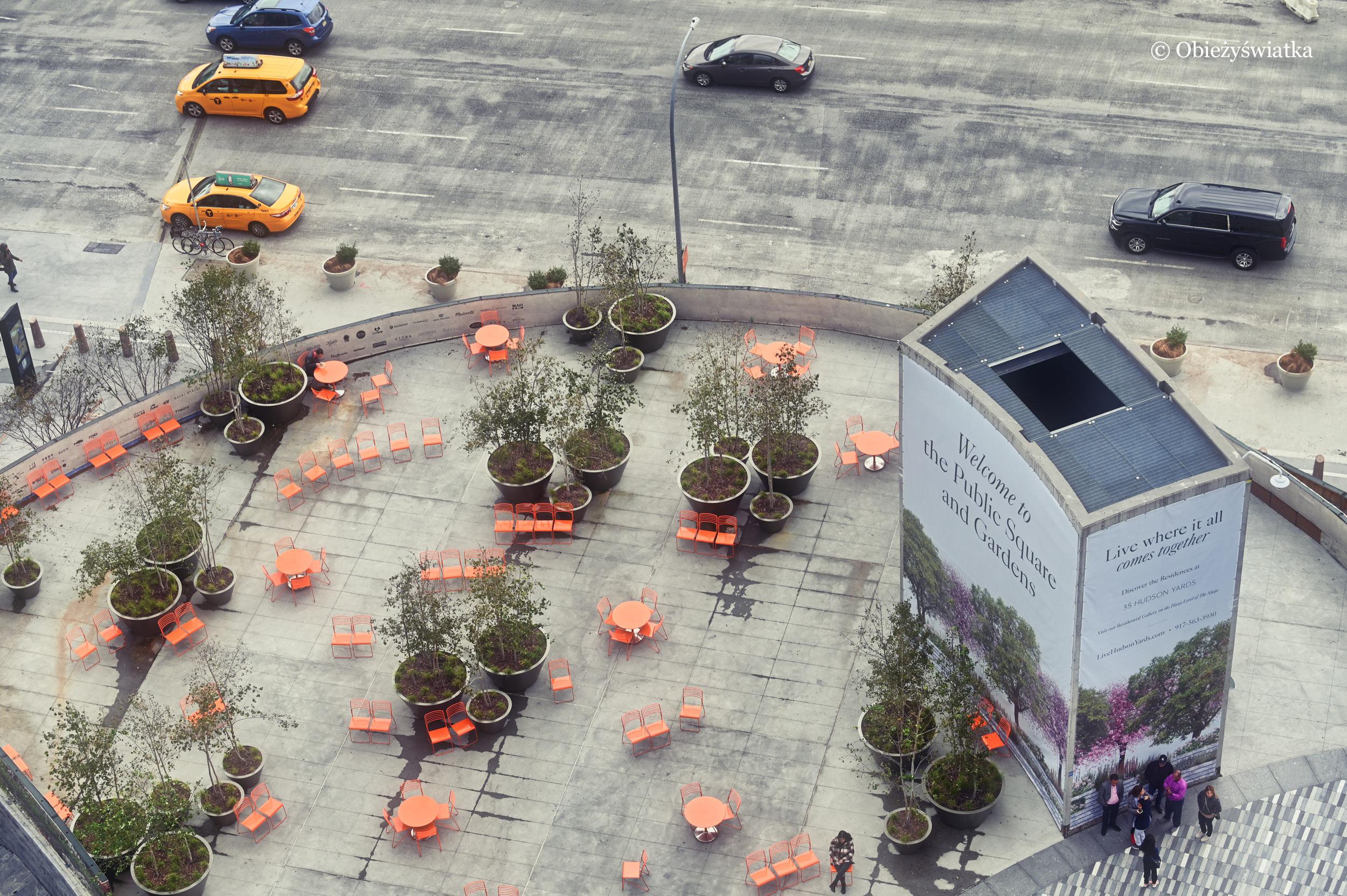 Malutki skwer przy The Vessel, Nowy Jork