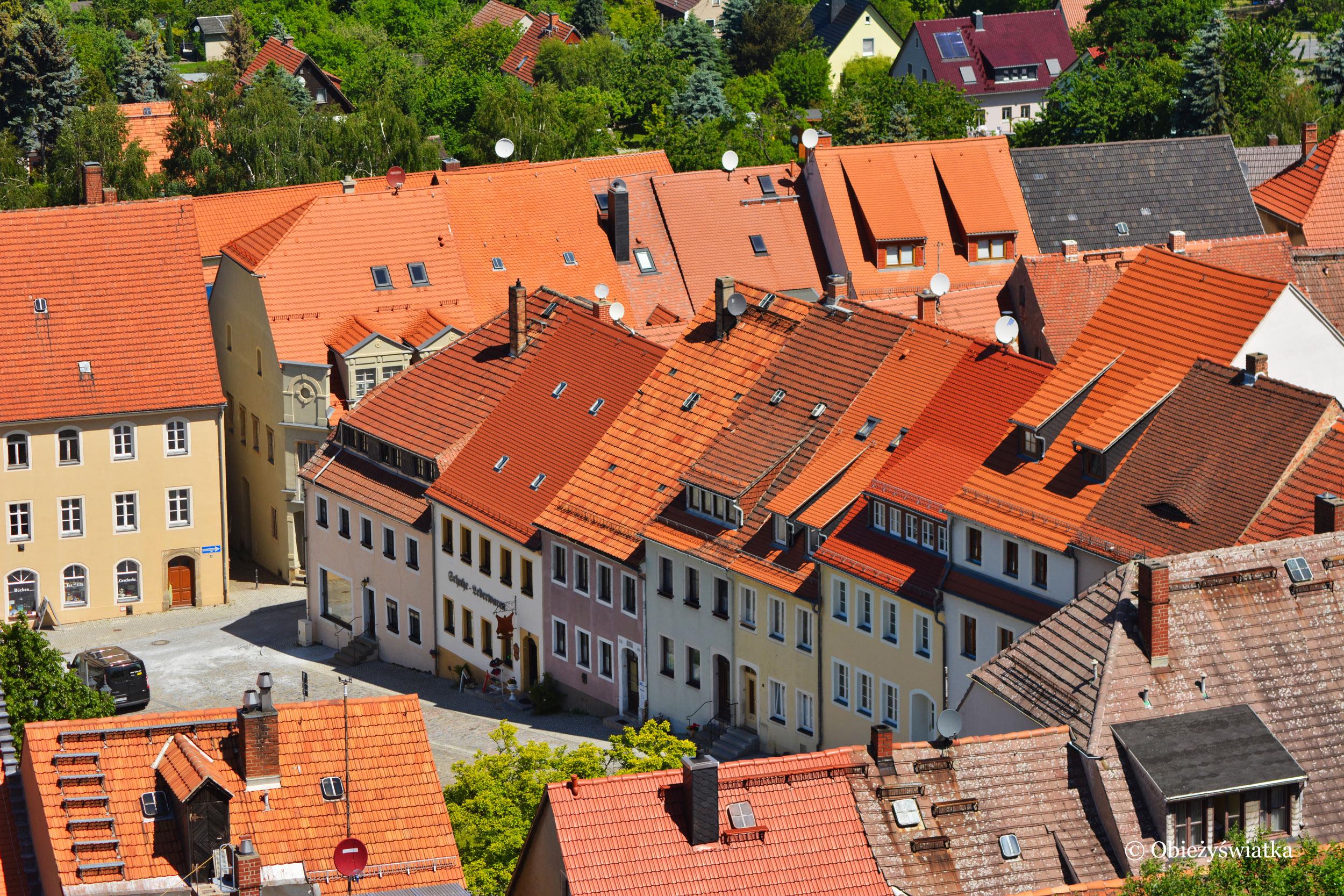 Widok na miasteczko Stolpen z zamku