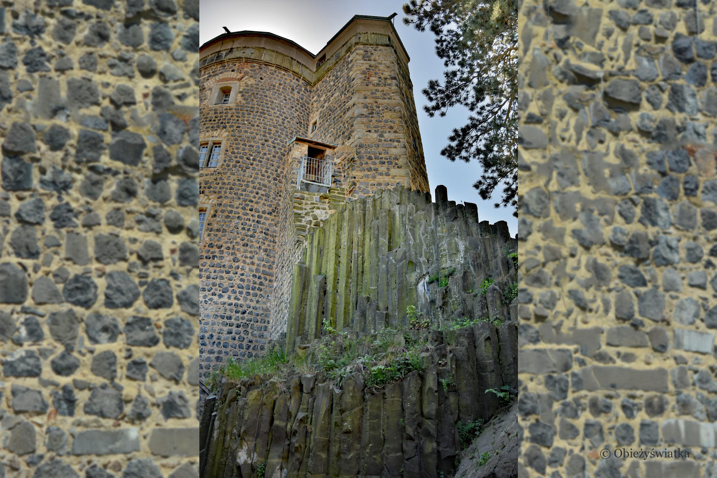Bazaltowe naturalne kolumny służyły jako fundamenty i podmurze zamku Stolpen