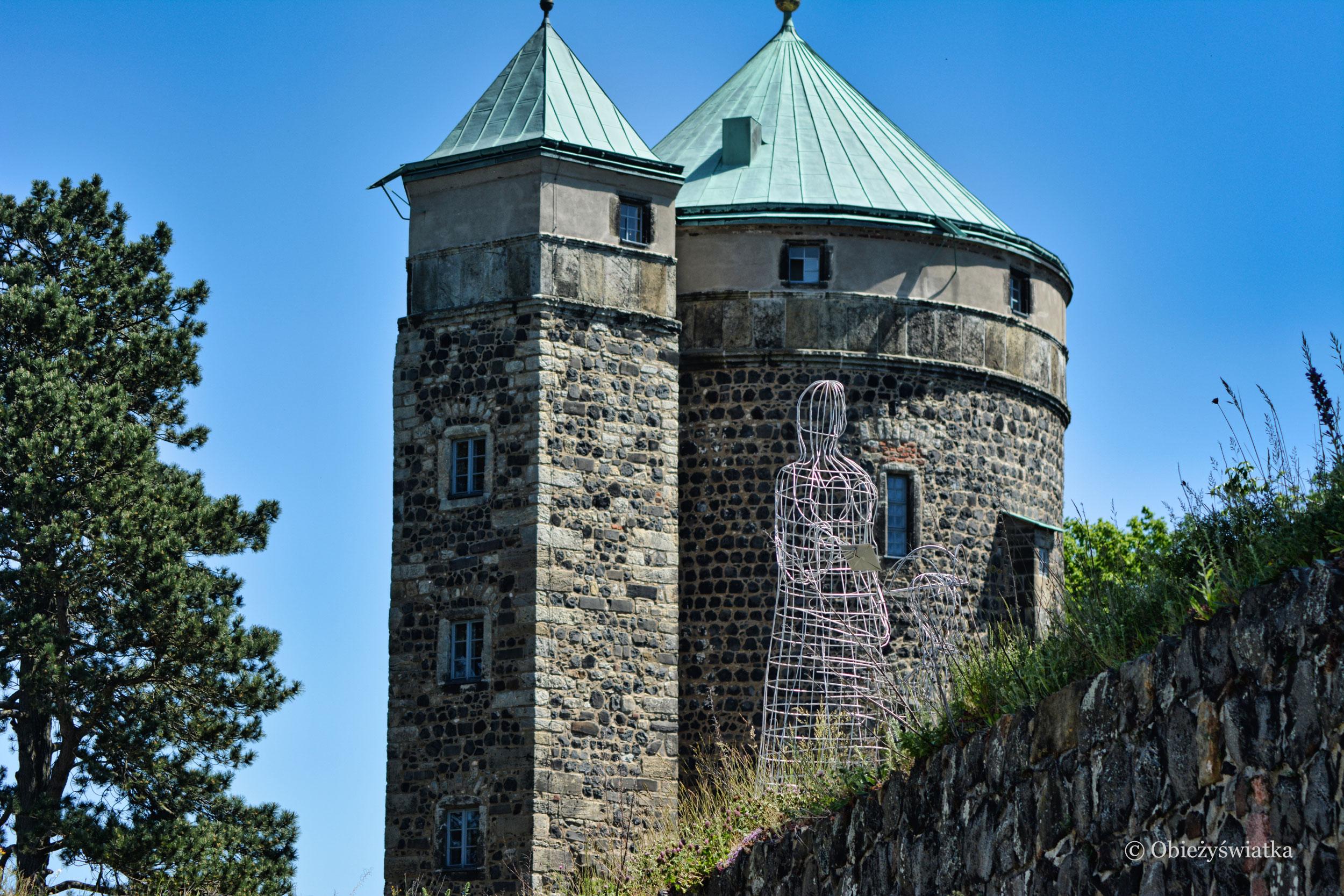 Zamek Stolpen, w którym więziona była hrabina Cosel