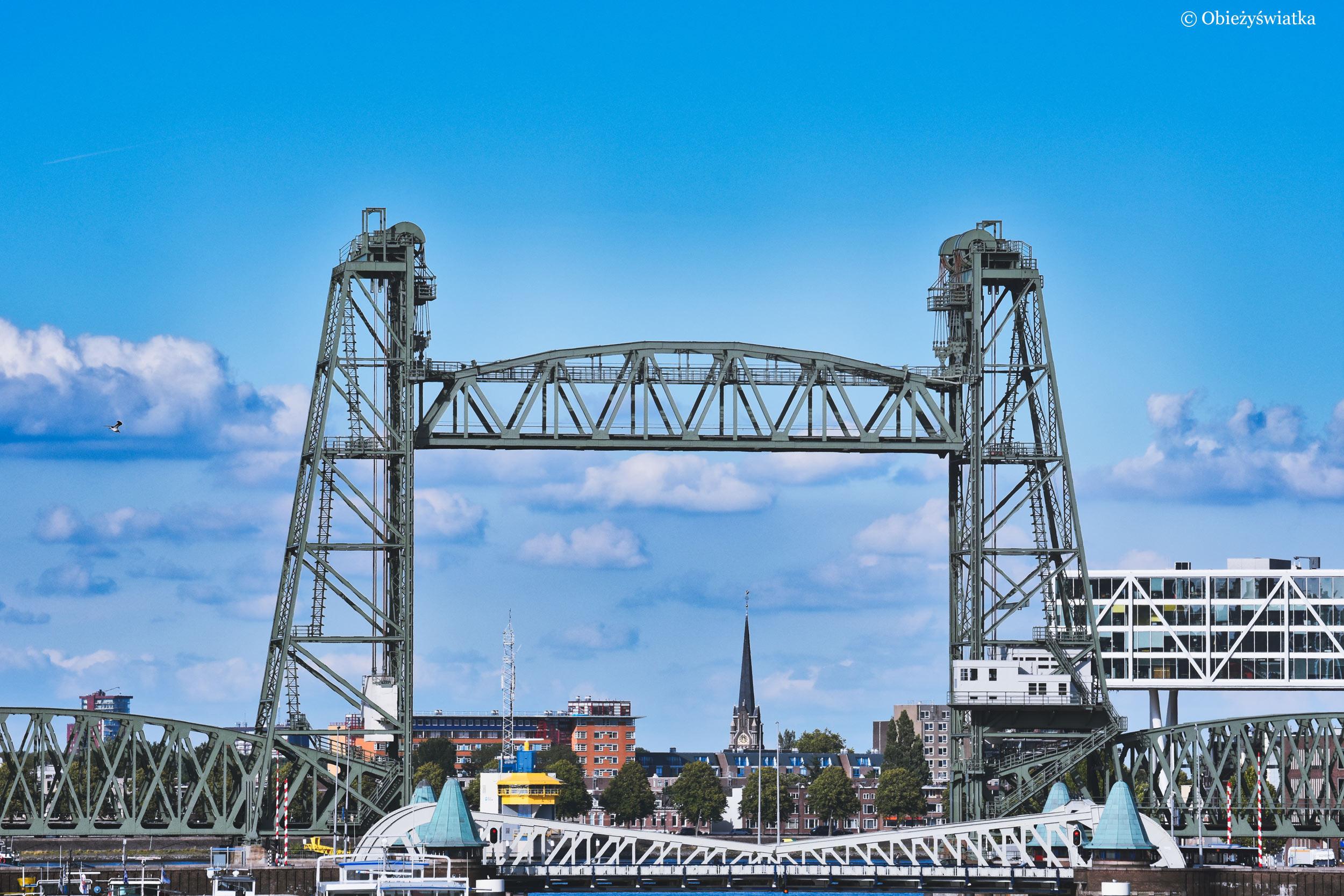 Dwa mosty: De Hef i Koninginnebrug, Rotterdam