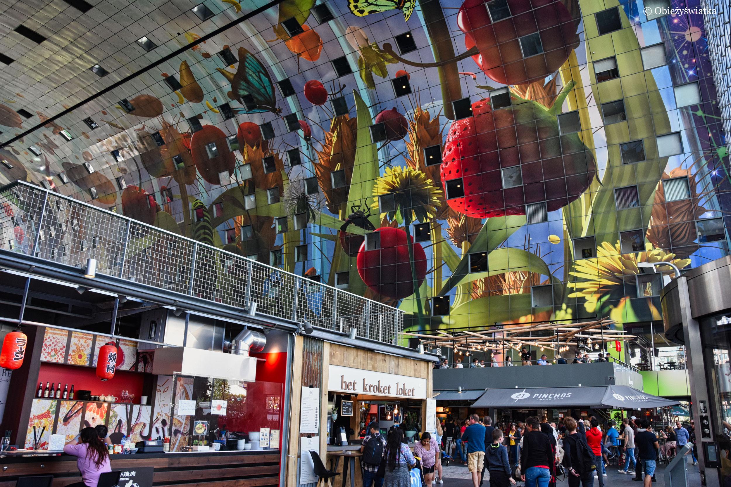 Hala Targowa - kolorowe wnętrze, Rotterdam