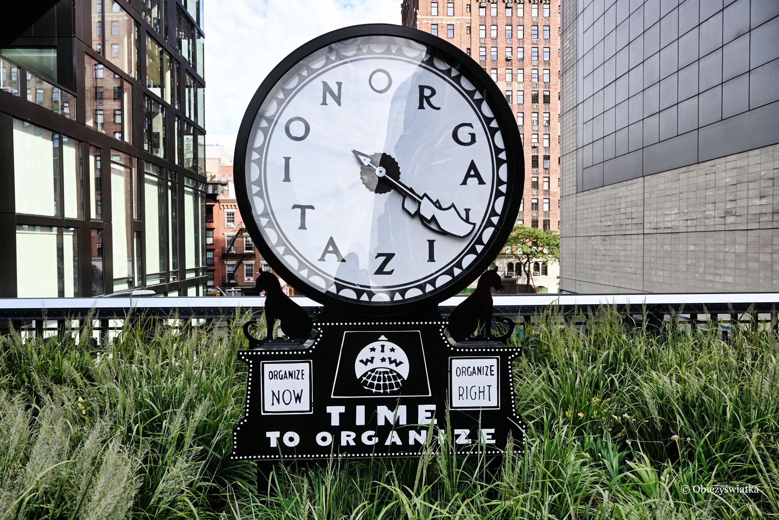 W parku The High Line, Nowy Jork - Silent Agitator autorstwa Ruth Ewan