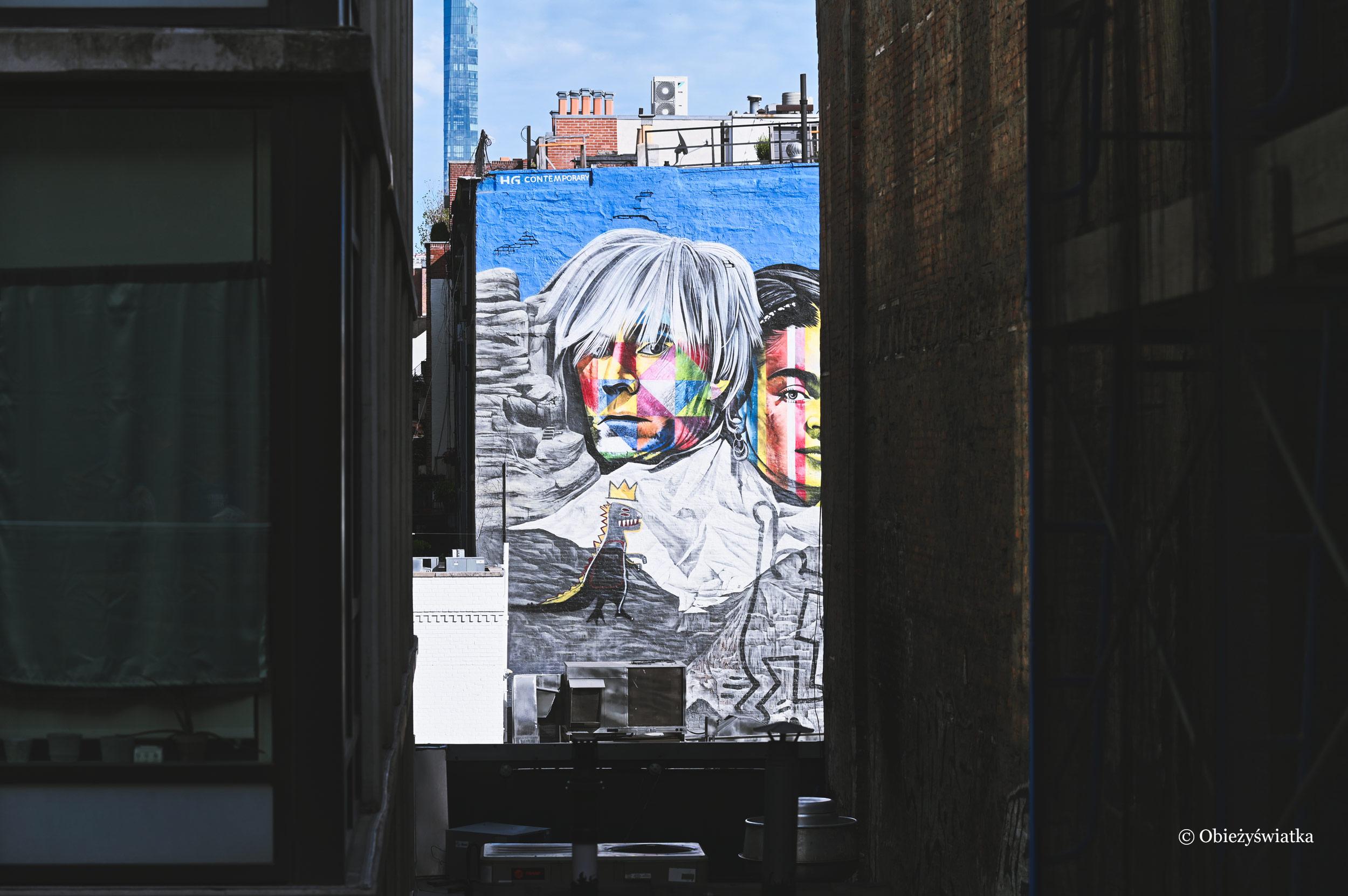 Graffiti w Nowym Jorku - widok z parku The High Line
