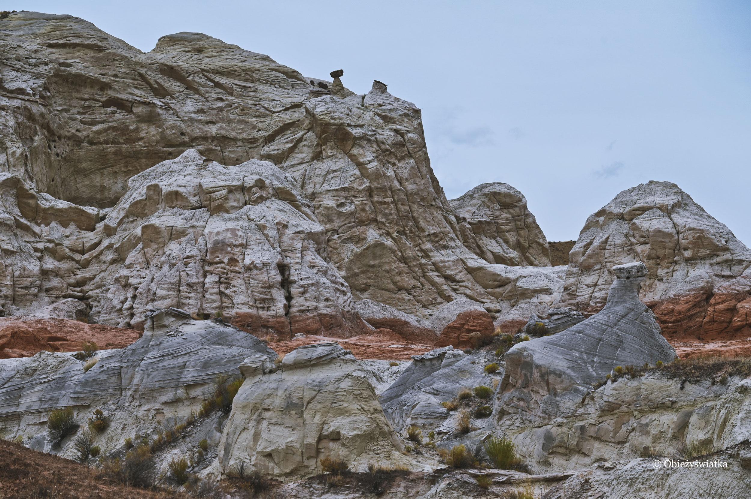 Między skałami, Toadstools Trail, Utah